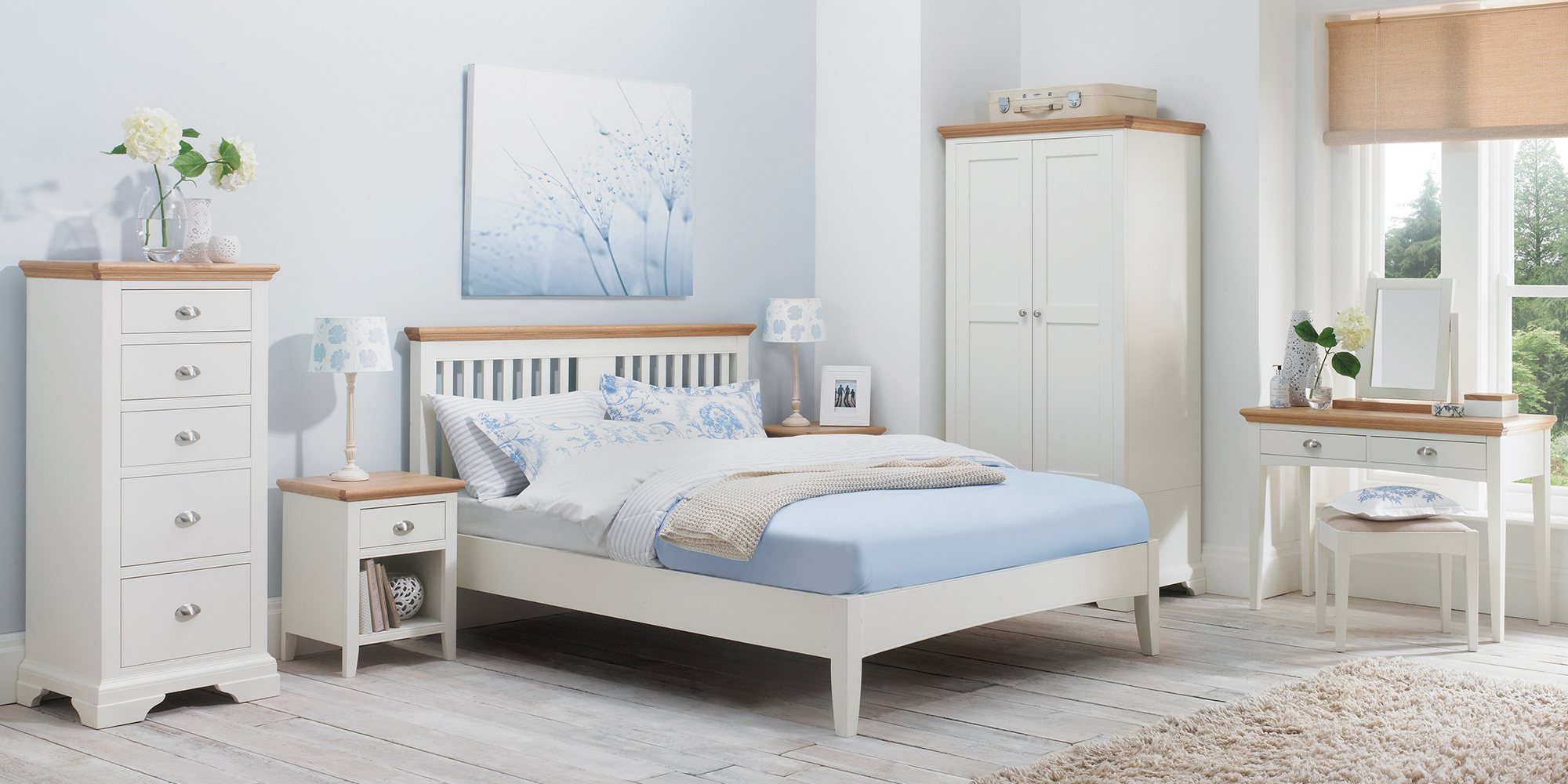 KYRA TWO TONE BEDROOM SET