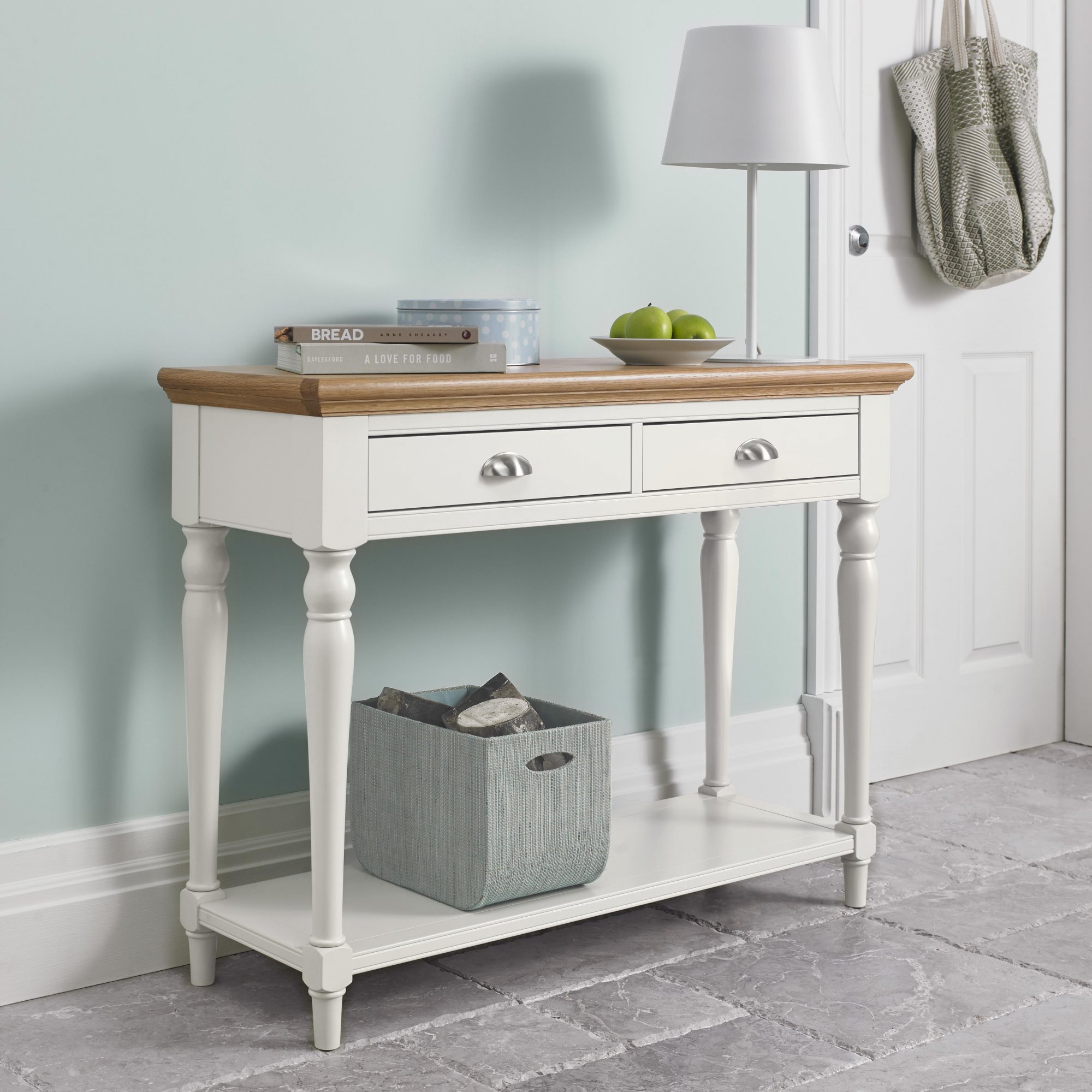 KYRA TWO TONE CONSOLE TABLE - L104cm x D38cm x H80cm
