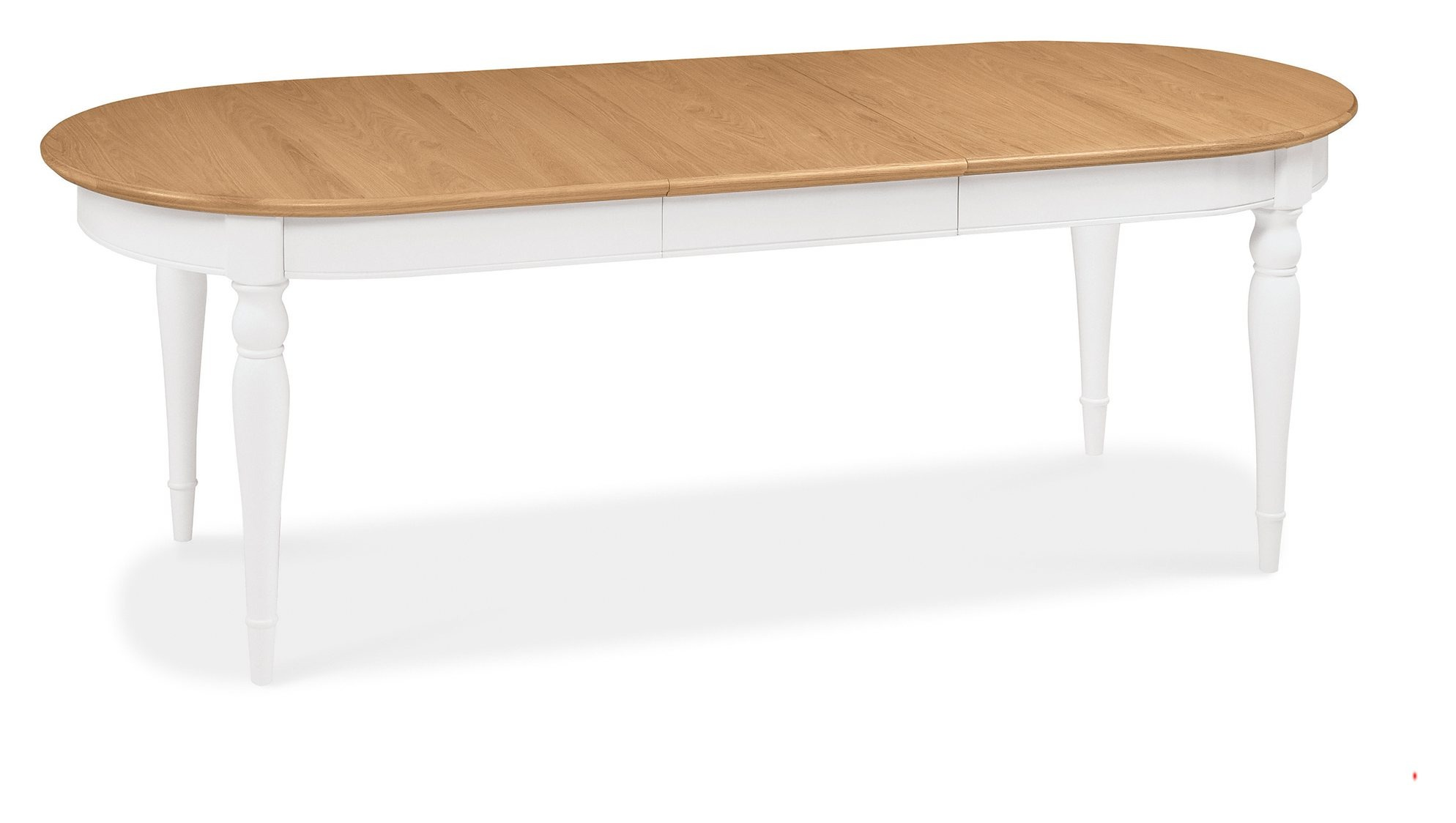 KYRA TWO TONE LARGE DINING TABLE OPENED - L231cm x D97cm x H77cm