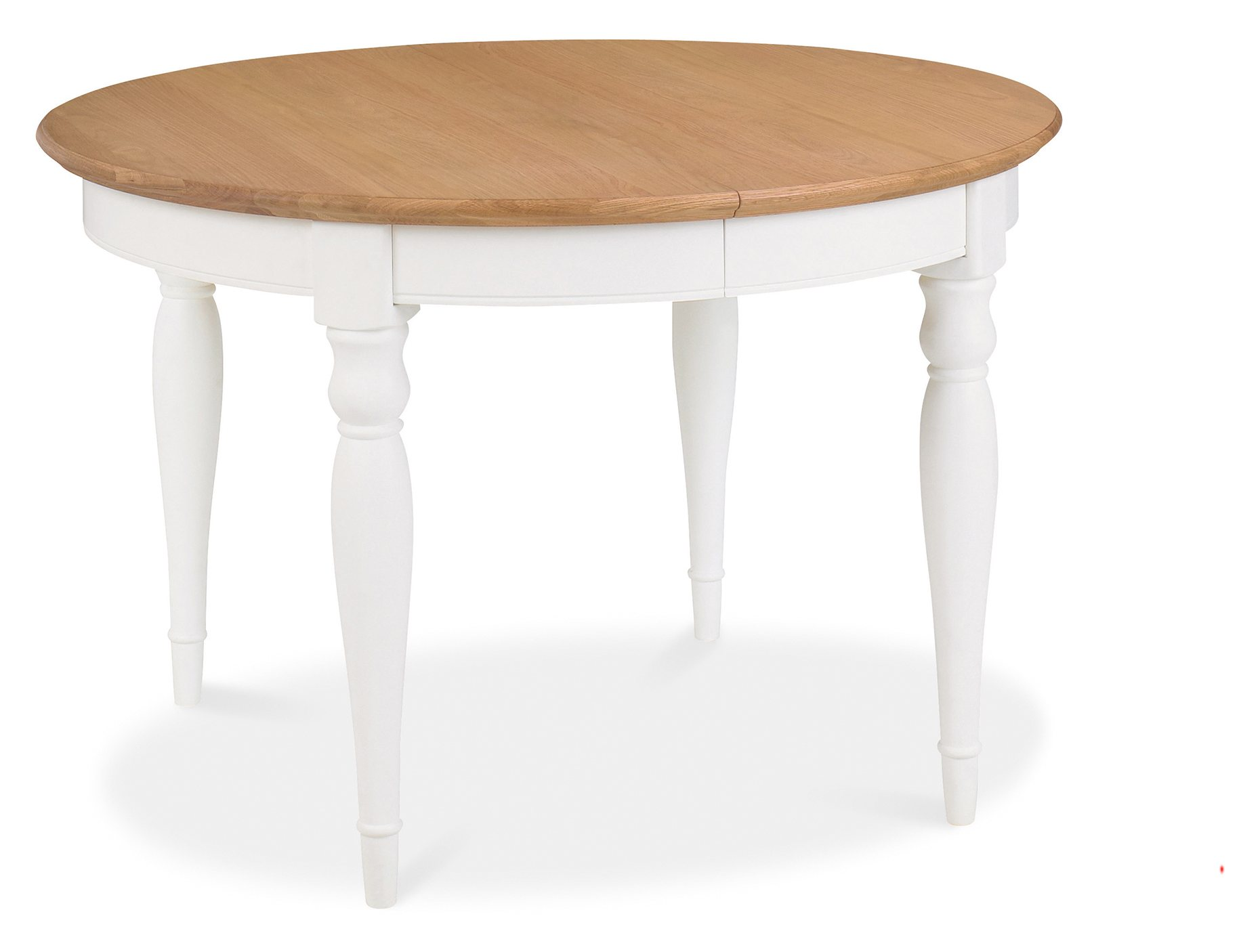 KYRA TWO TONE ROUND DINING TABLE CLOSED - L120cm x D120cm