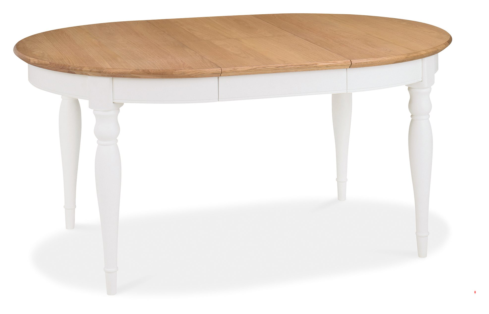 KYRA TWO TONE ROUND DINING TABLE OPENED - L181cm x D120cm x H77cm
