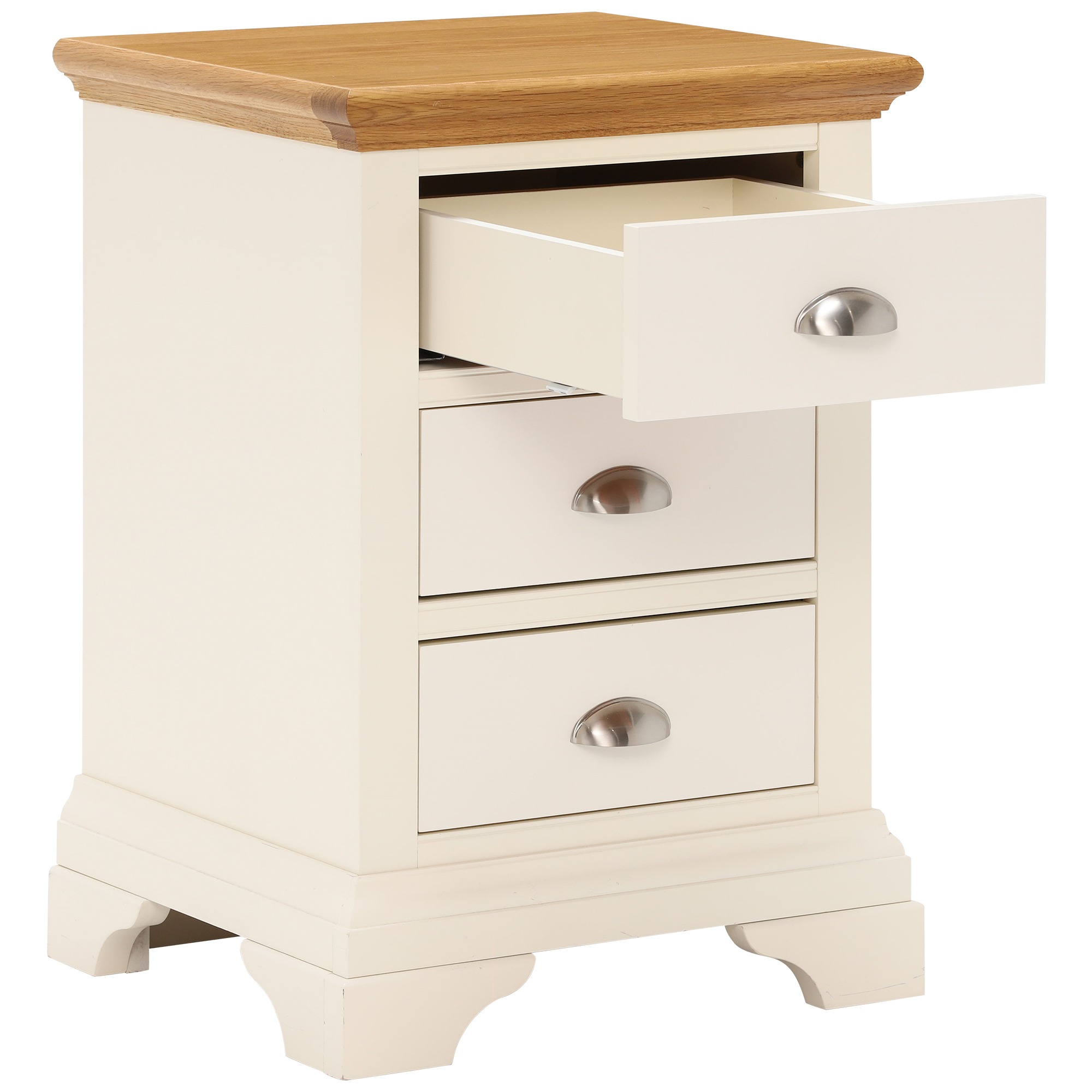 KYRA TWOTONE 3DR BEDSIDE - DRAWER DETAIL