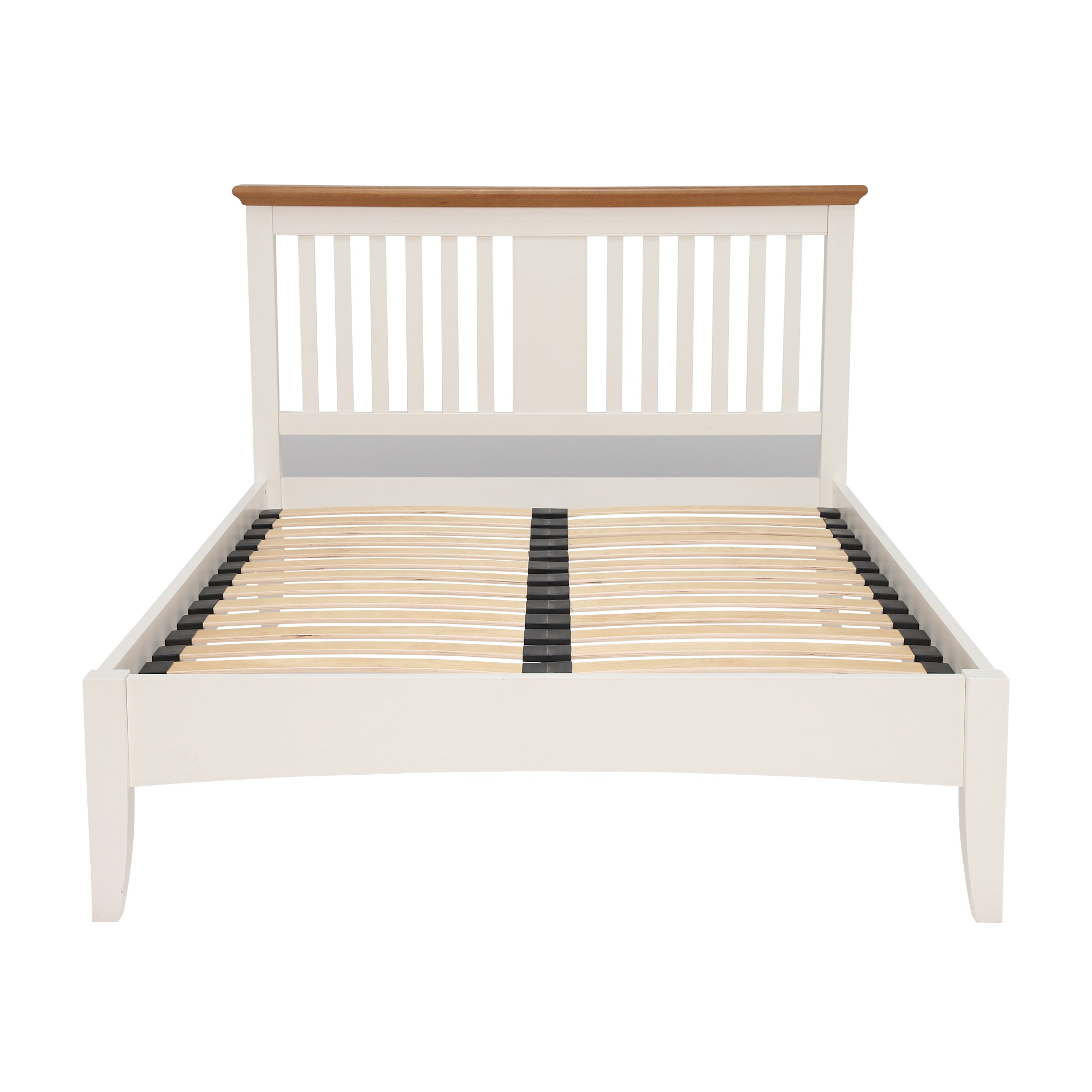 KYRA TWOTONE BEDFRAME - END DETAIL