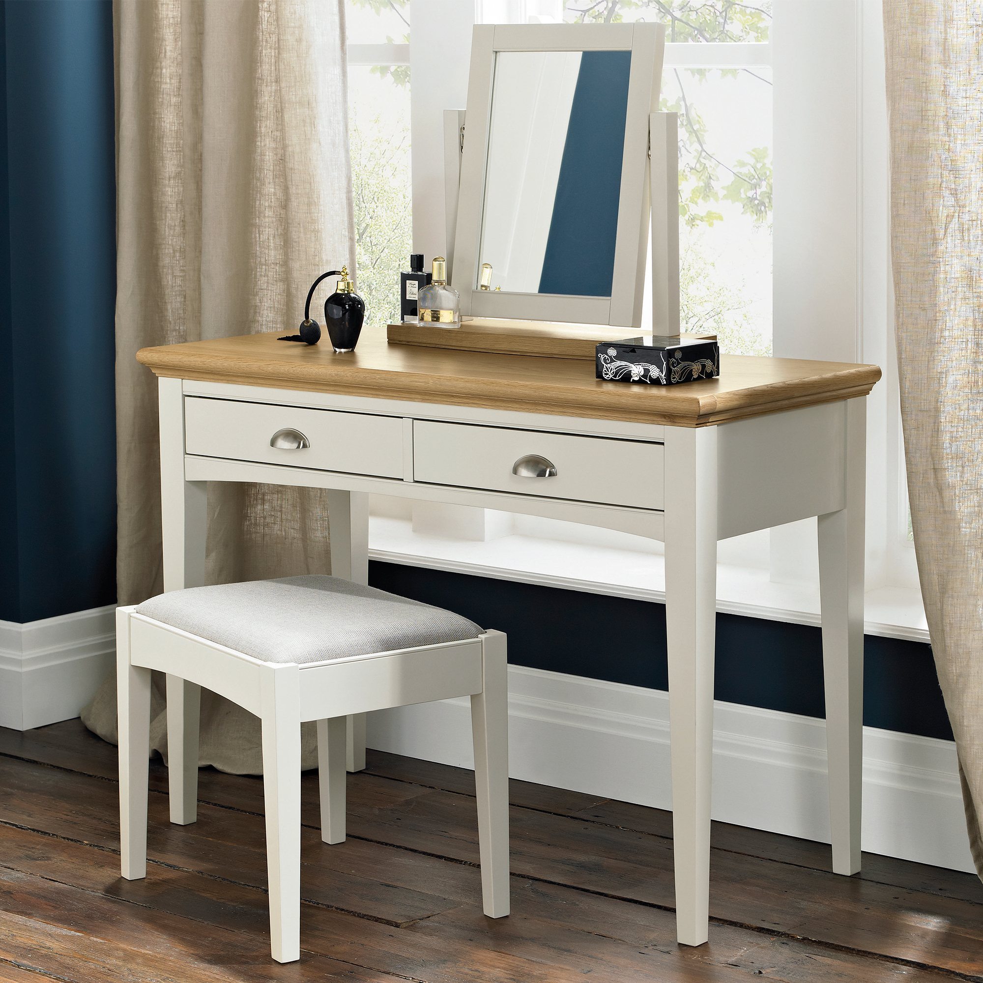 KYRA TWOTONE DRESSING TABLE - L110cm x D48cm x H79cm.