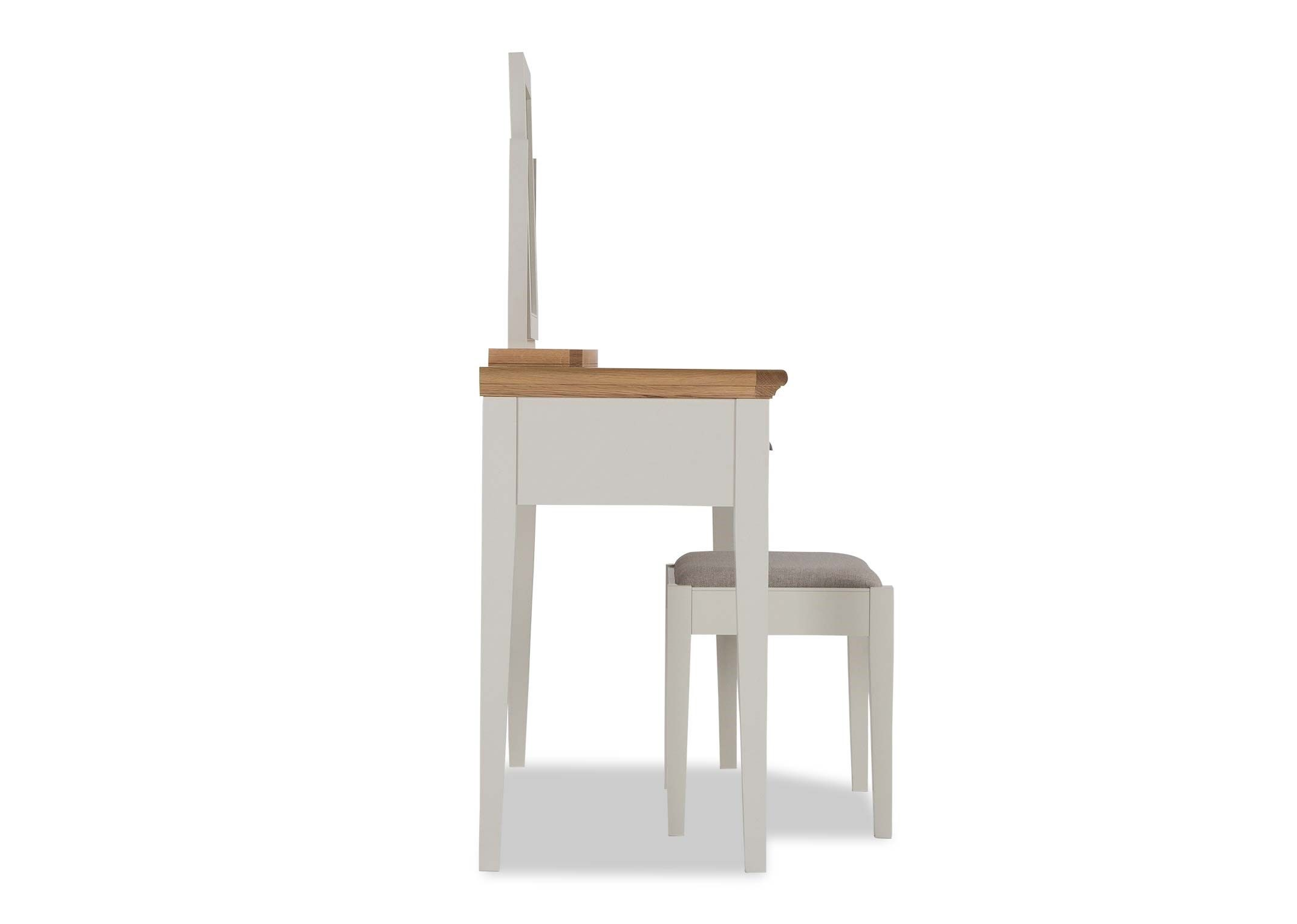 KYRA TWOTONE DRESSING TABLE - SIDE VIEW