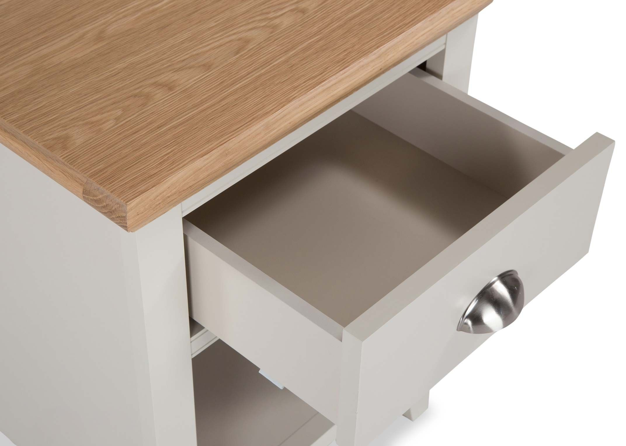 KYRA TWOTONE NIGHTSTAND - SOFT CLOSING DRAWER DETAIL