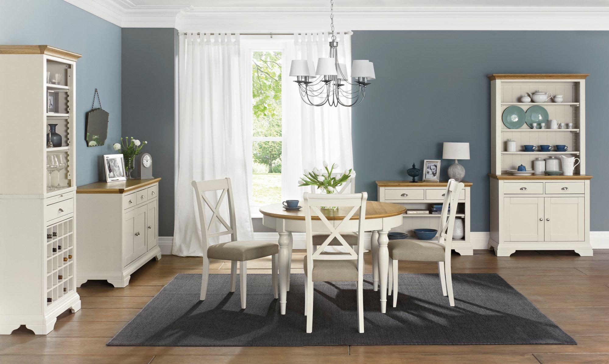 KYRA TWOTONE ROUND DINING TABLE L120cm x D120cm x H77cm