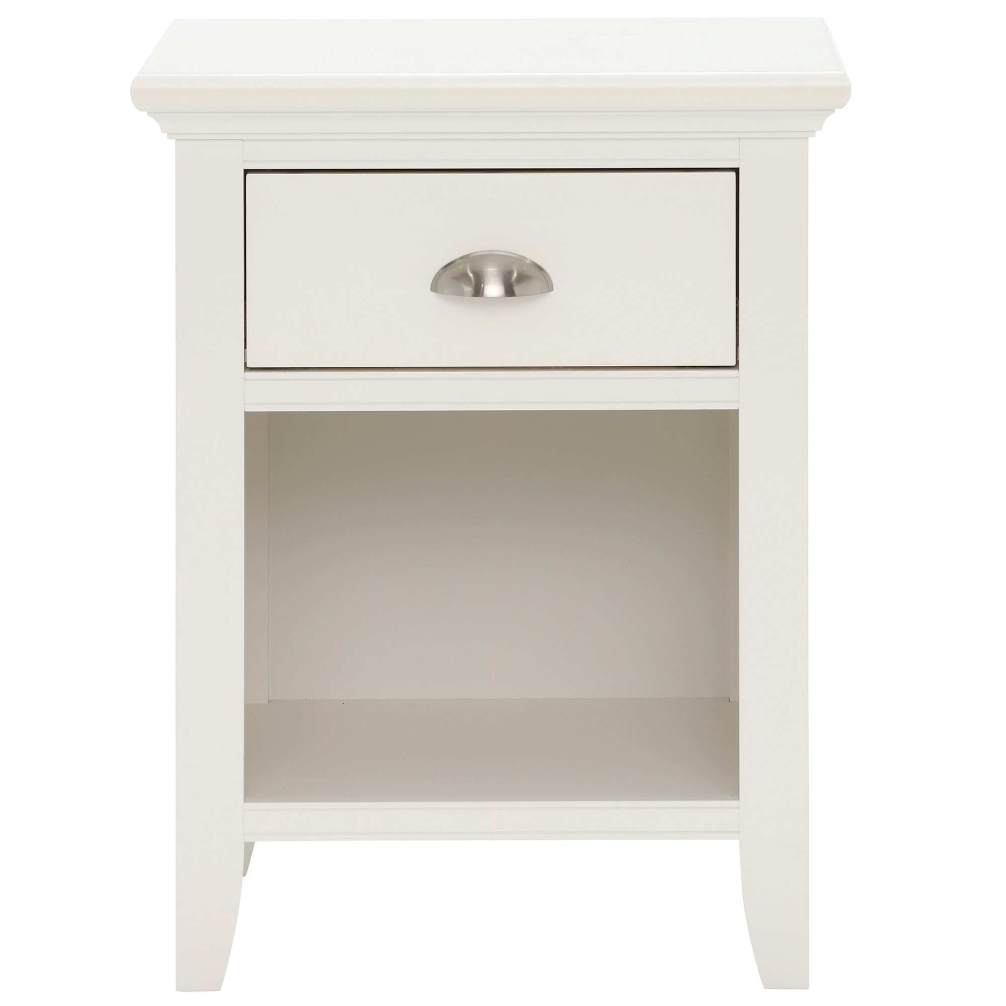 KYRA WHITE 1DR NIGHTSTAND - FRONT DETAIL