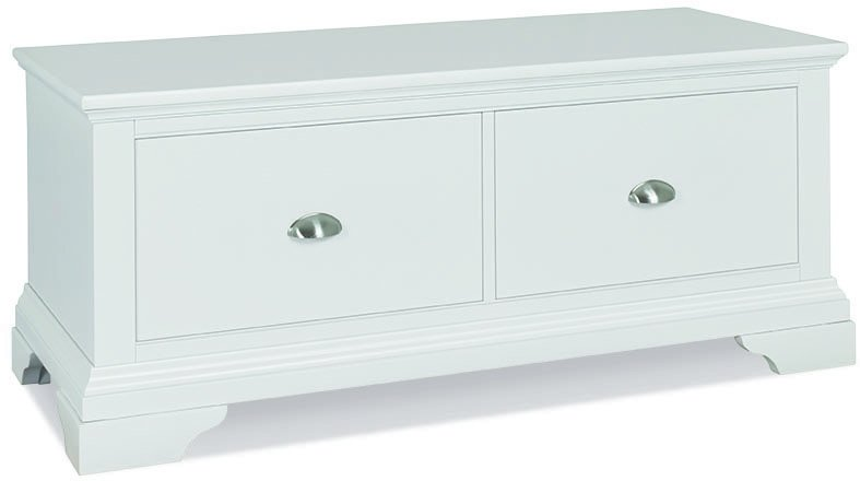 KYRA WHITE BLANKET BOX -L121cm x D48cm x H50cm