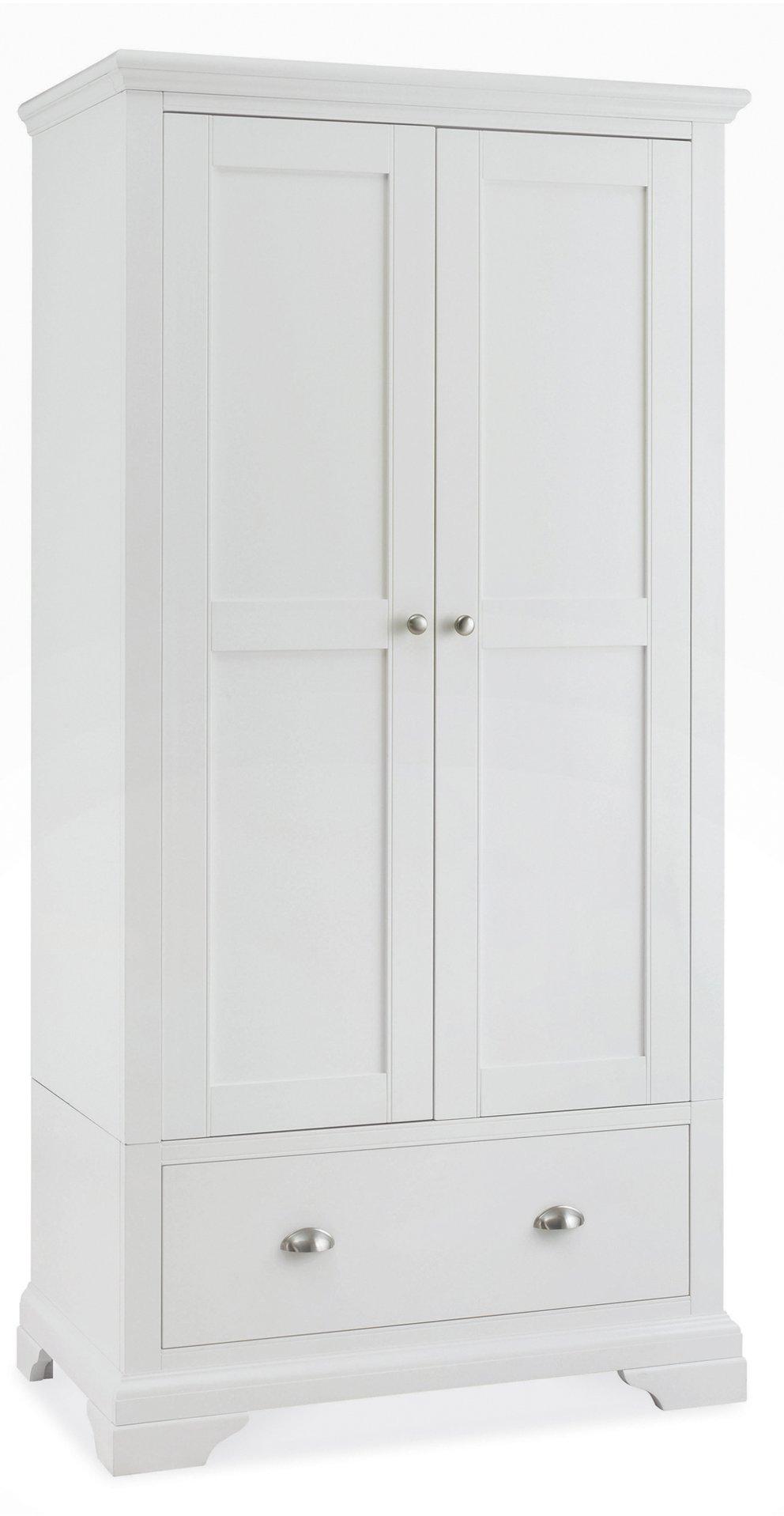 KYRA WHITE DOUBLE ROBE - L97cm x D58cm x H195cm.