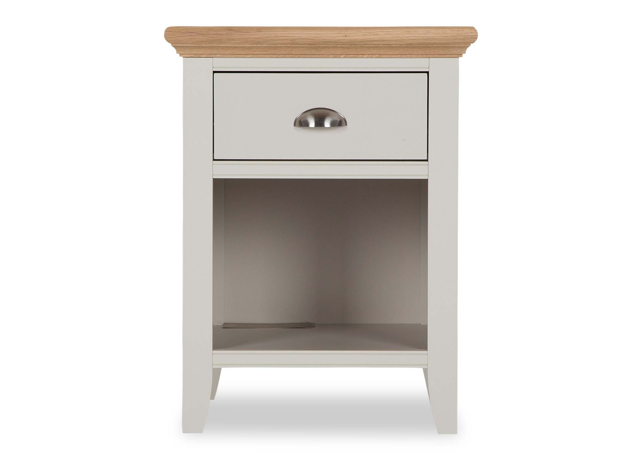 KYRA WHITE NIGHTSTAND - FRONT DETAIL