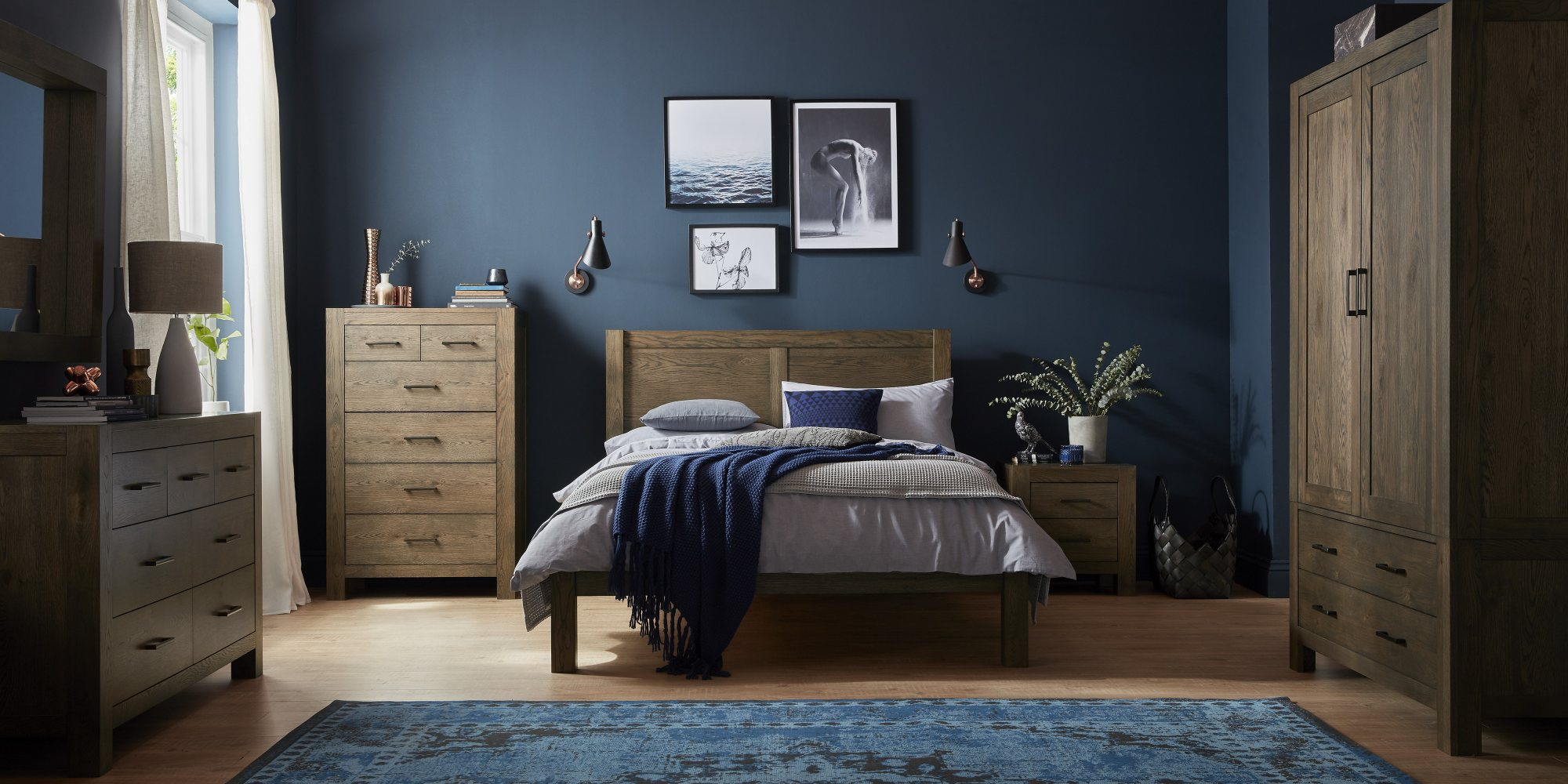 LILLE DARK OAK BEDROOM SETTING