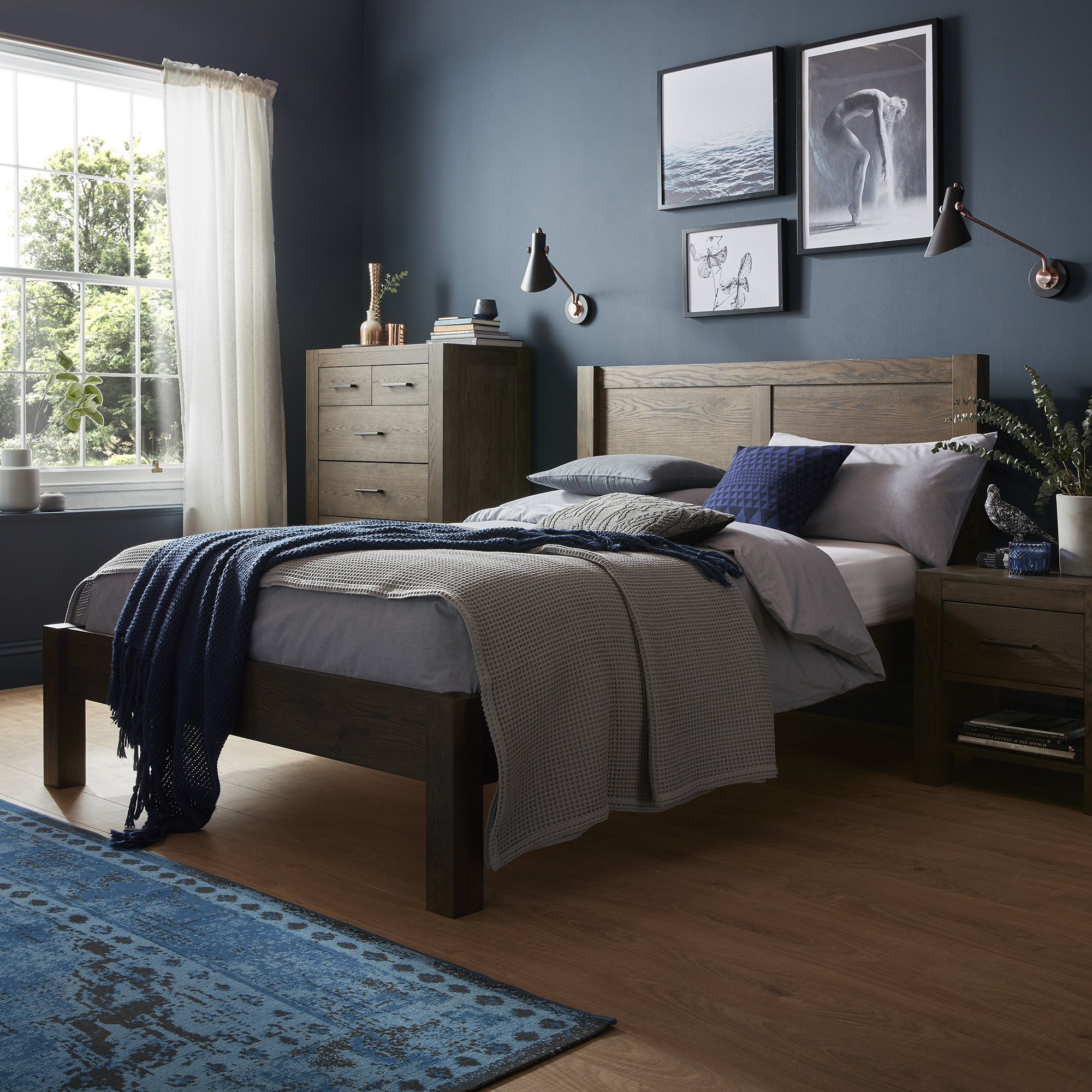 LILLE DARK OAK BEDROOM SETTING.