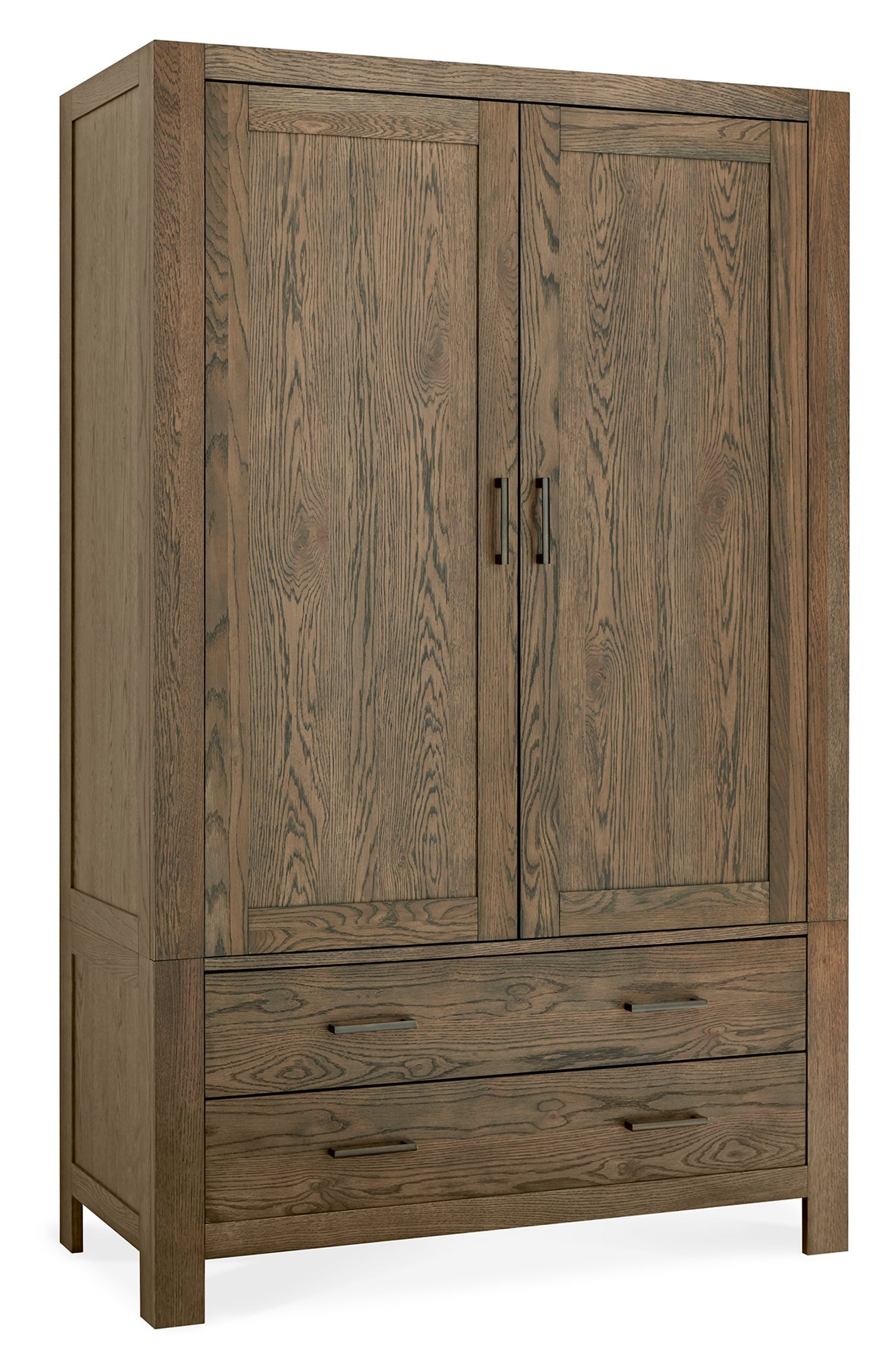 LILLE DARK OAK LARGE DOUBLE ROBE WITH DRAWERS - ANGLE DETAIL