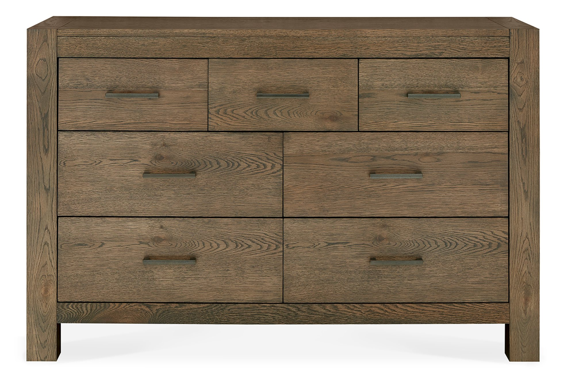 LILLE DARK OAK WIDE CHEST -FRONT DETAIL