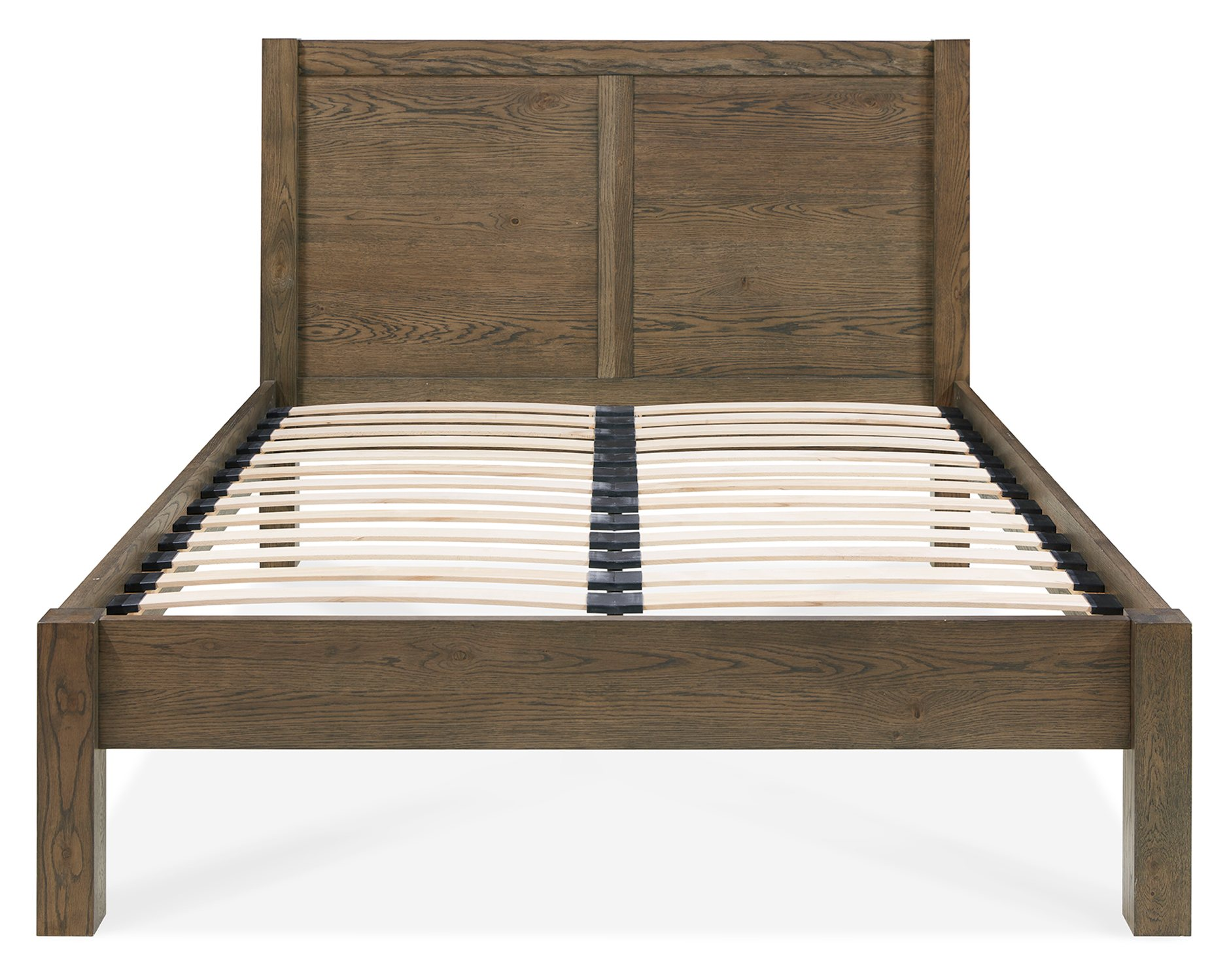 LILLE DARL OAK BEDFRAME - END DETAIL