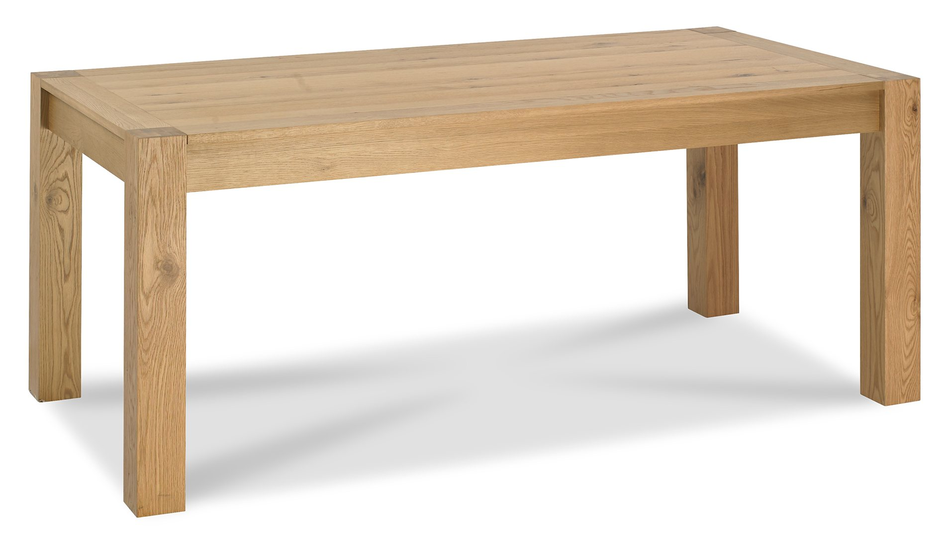 LILLE OAK LARGE EXTENDING TABLE CLOSED - L185cm x D90cm x H75cm