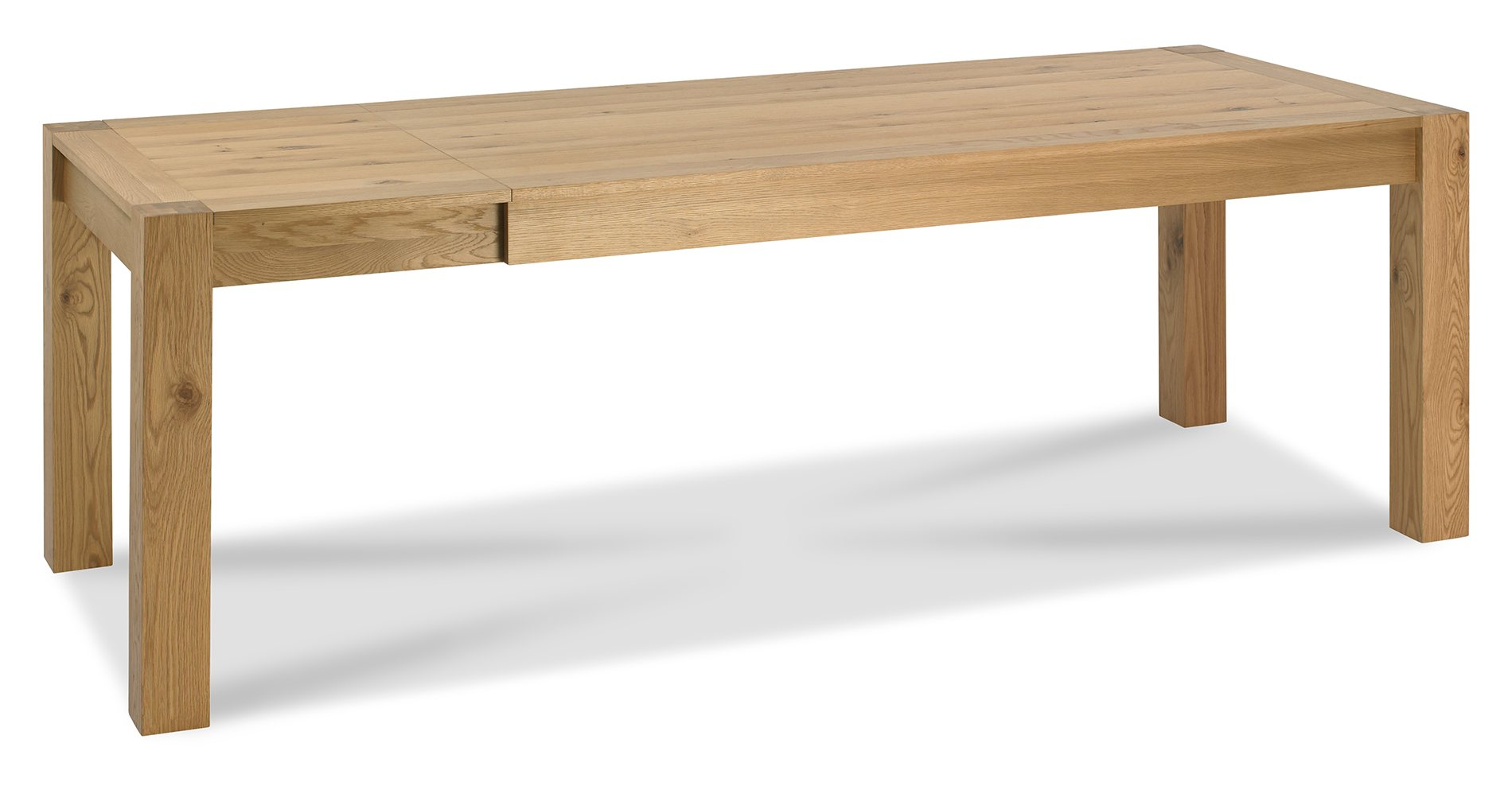 LILLE OAK LARGE EXTENDING TABLE OPENED - L245cm x D90cm x H75cm