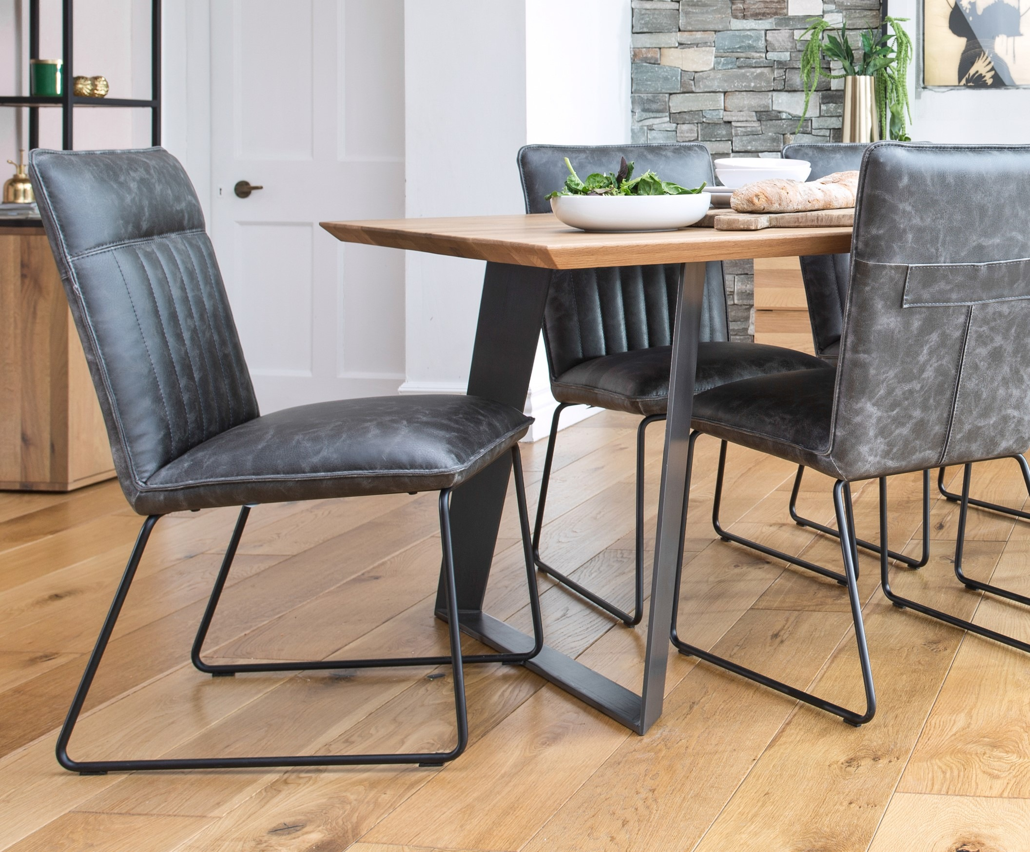 METRO GREY DINING CHAIR– L49cm x D63cm x H92.5cm