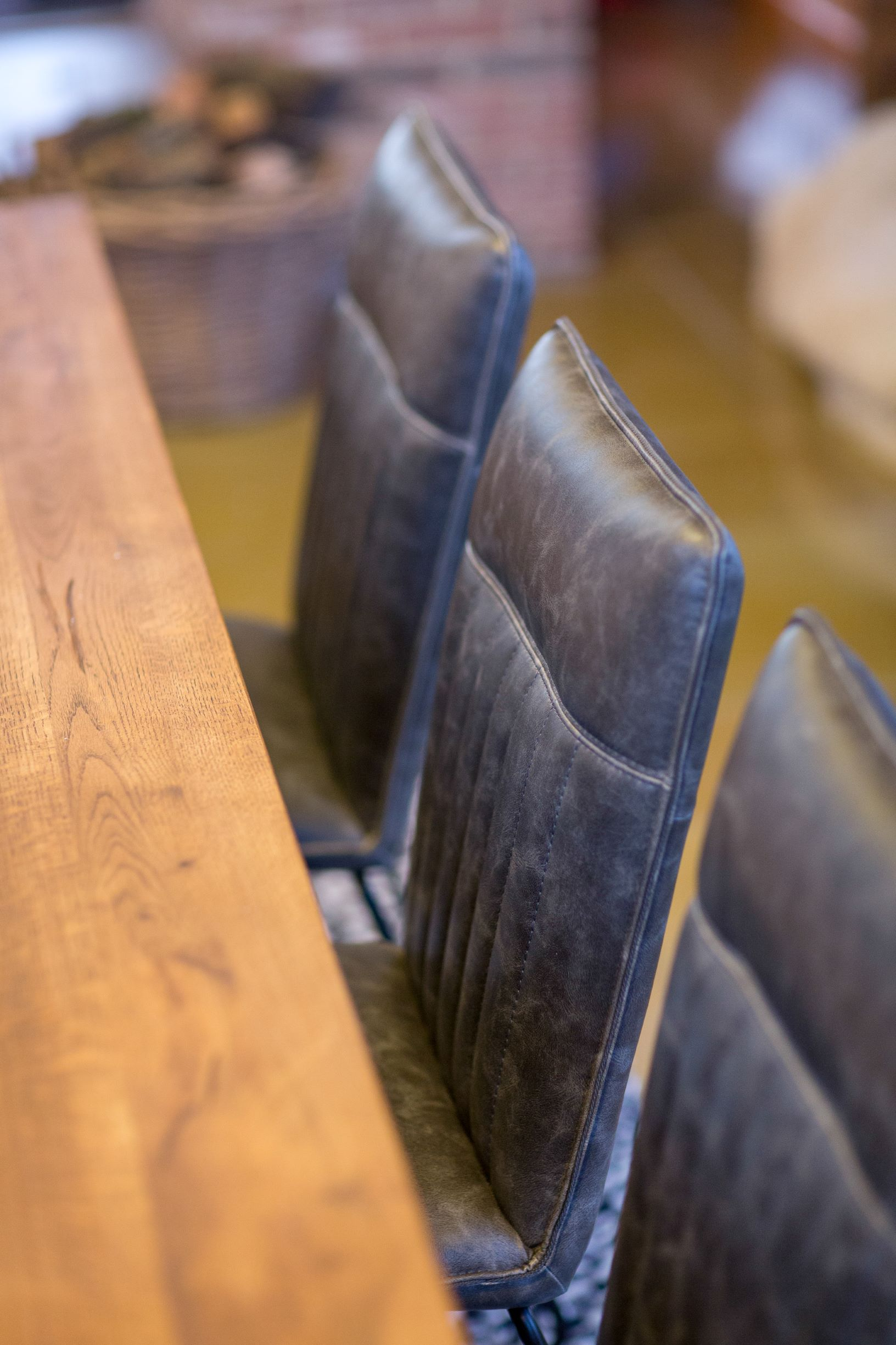 METRO GREY DINING CHAIR - CLOSE UP