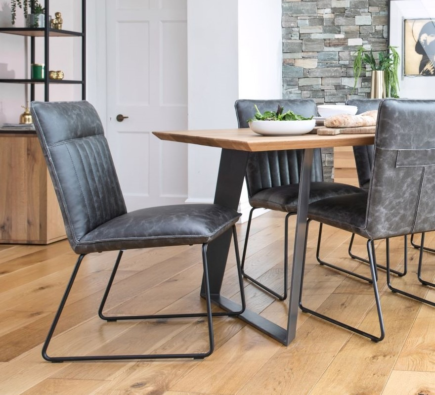METRO GREY DINING CHAIR. ALSO AVAILABLE IN TAN