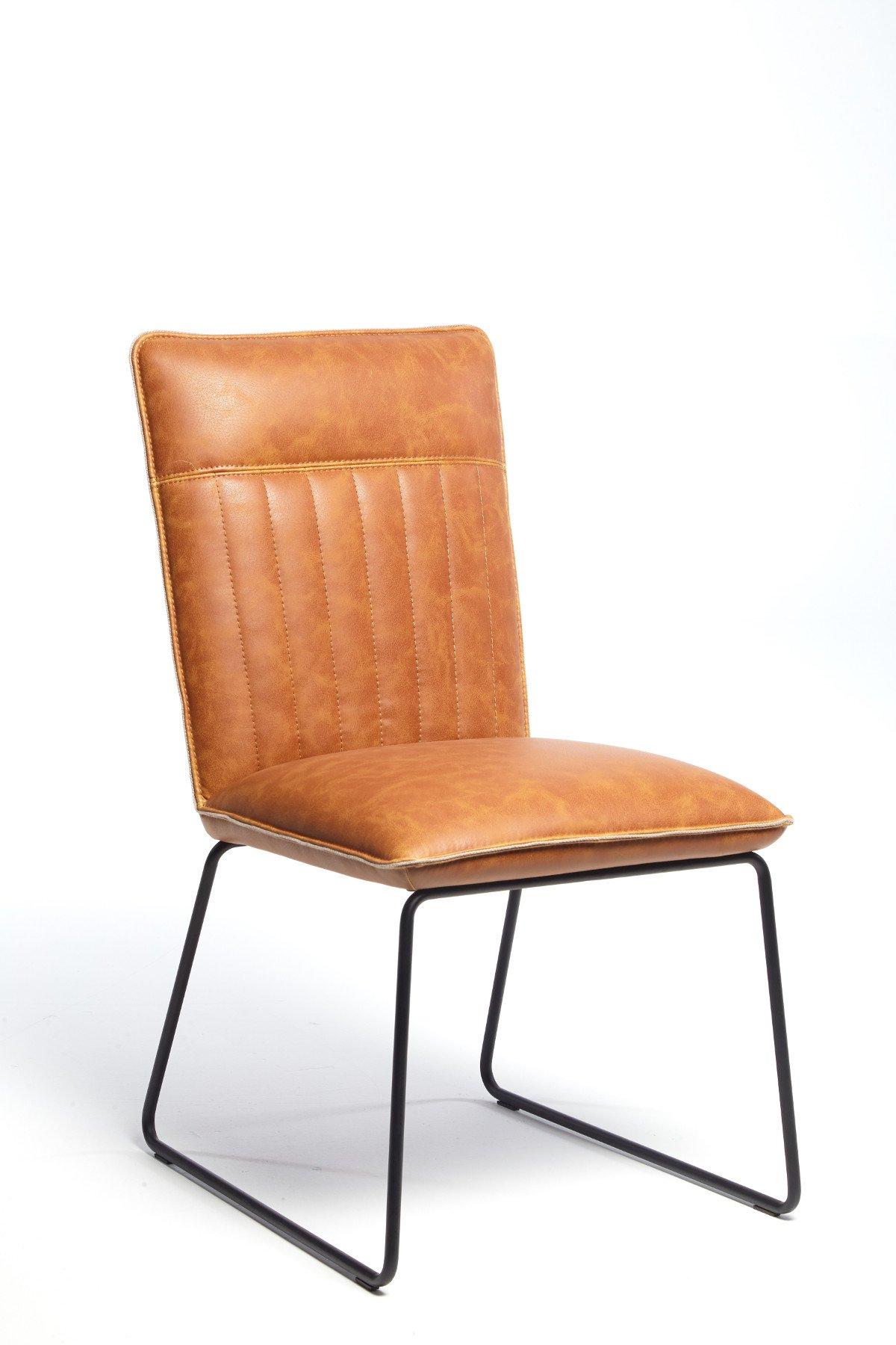 METRO TAN DINING CHAIR - ANGLE DETAIL
