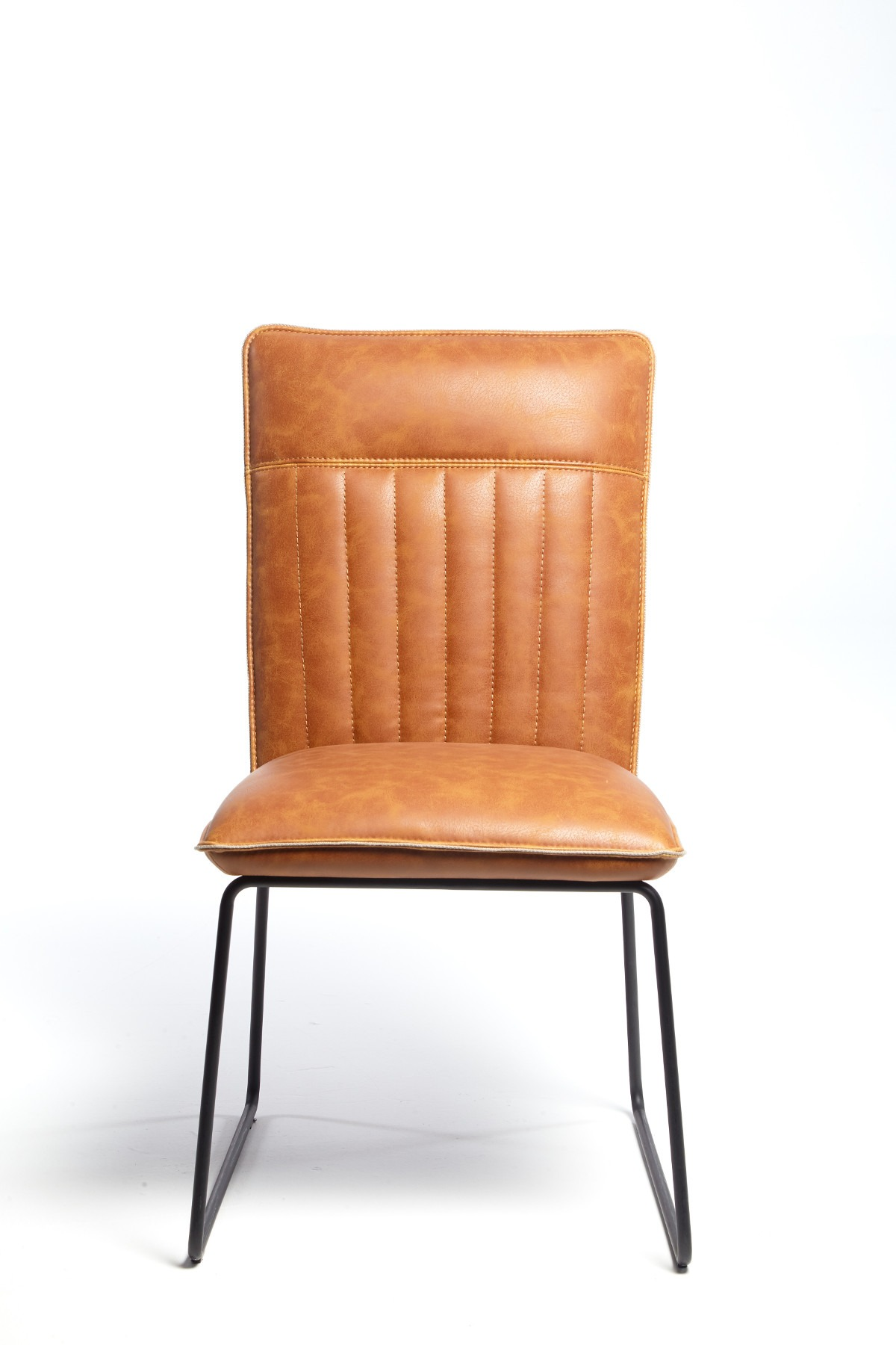 METRO TAN DINING CHAIR - FRONT VIEW