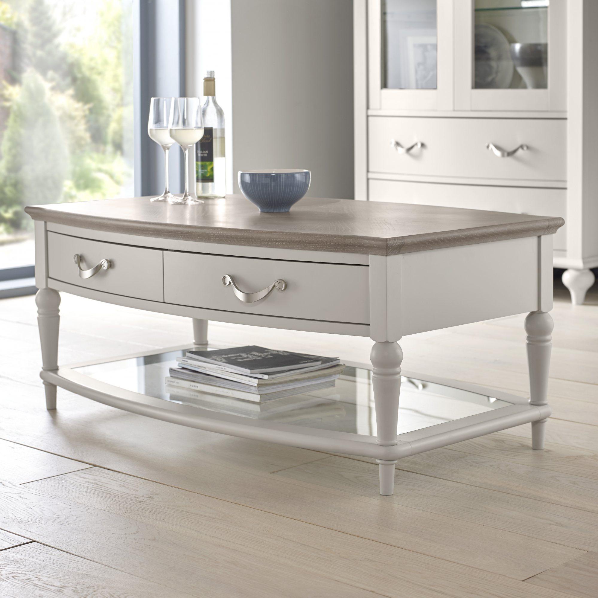 MONICA GREY COFEE TABLE - L108cm x D64cm x H46cm
