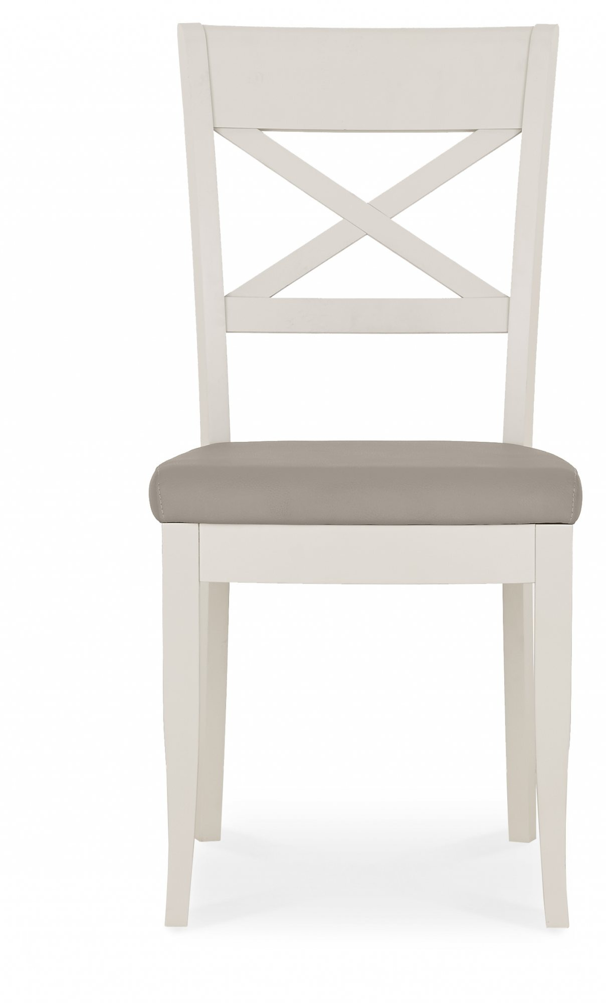 MONICA GREY DINING CHAIR - FRONT DETAIL