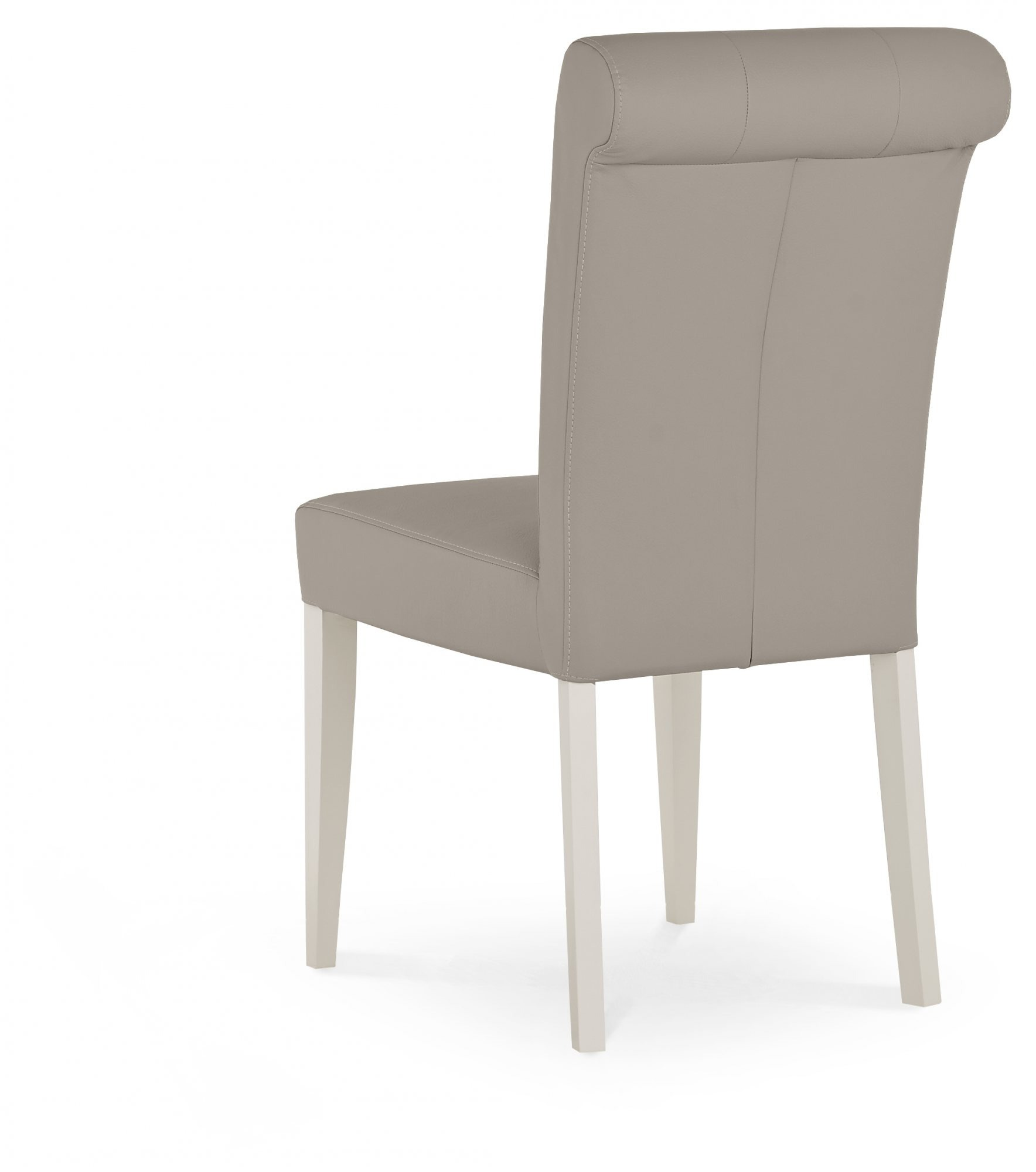 MONICA GREY UPHOLSTERED DINING CHAIR - BACK DETAIL