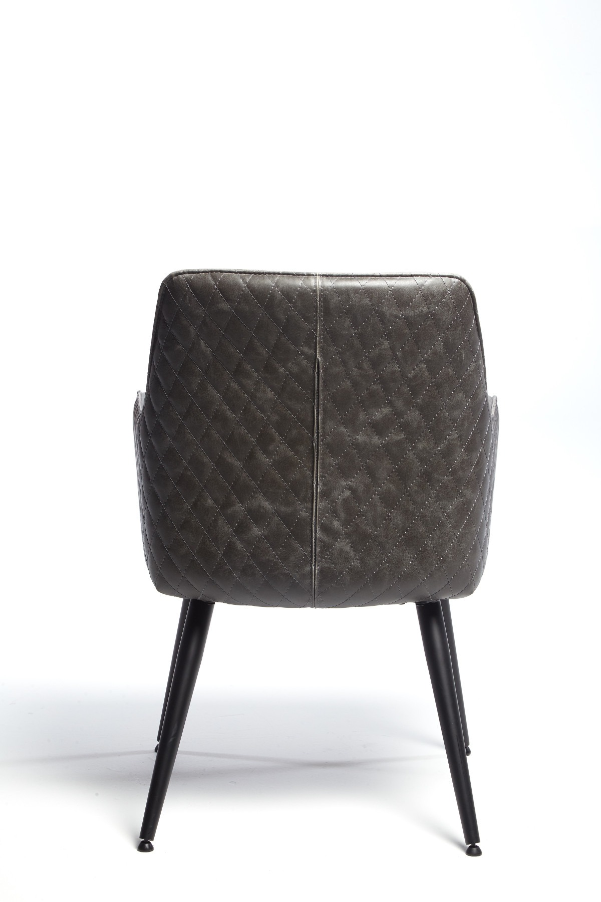 ORLANDO GREY DINING CHAIR - BACK DETAIL