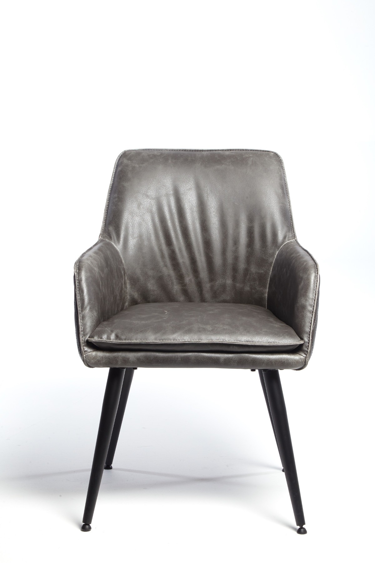 ORLANDO GREY DINING CHAIR - FRONT DETAIL