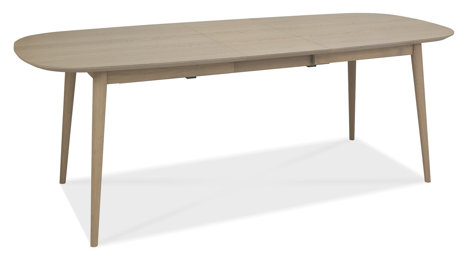 RETRO OAK DINING TABLE 6-8 SEATER OPENED L215cm x D90cm x H77cm