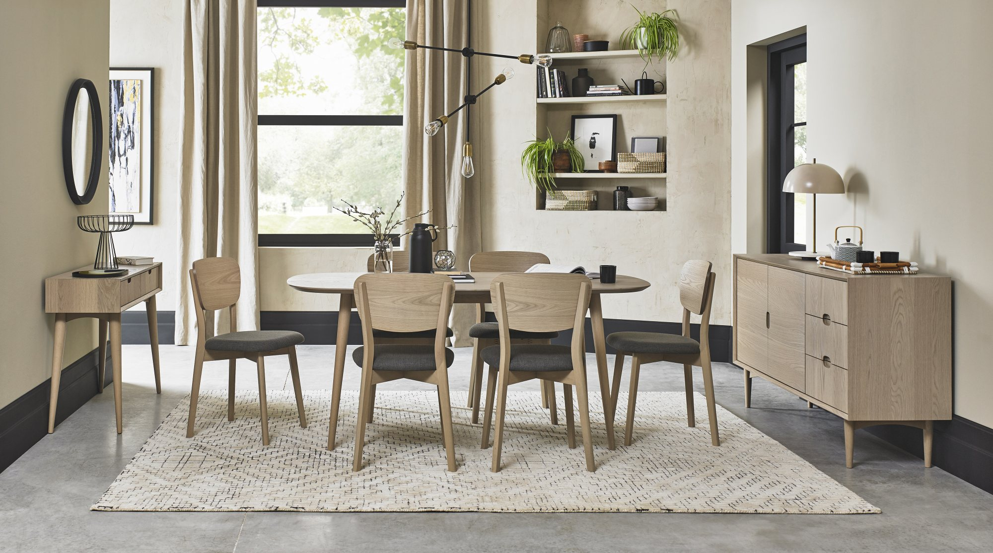 RETRO WOODEN DINING CHAIR SET