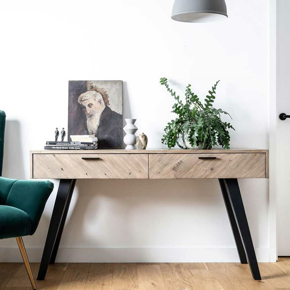 SAFARI CONSOLE TABLE - - L140cm xD43cm x H77cm