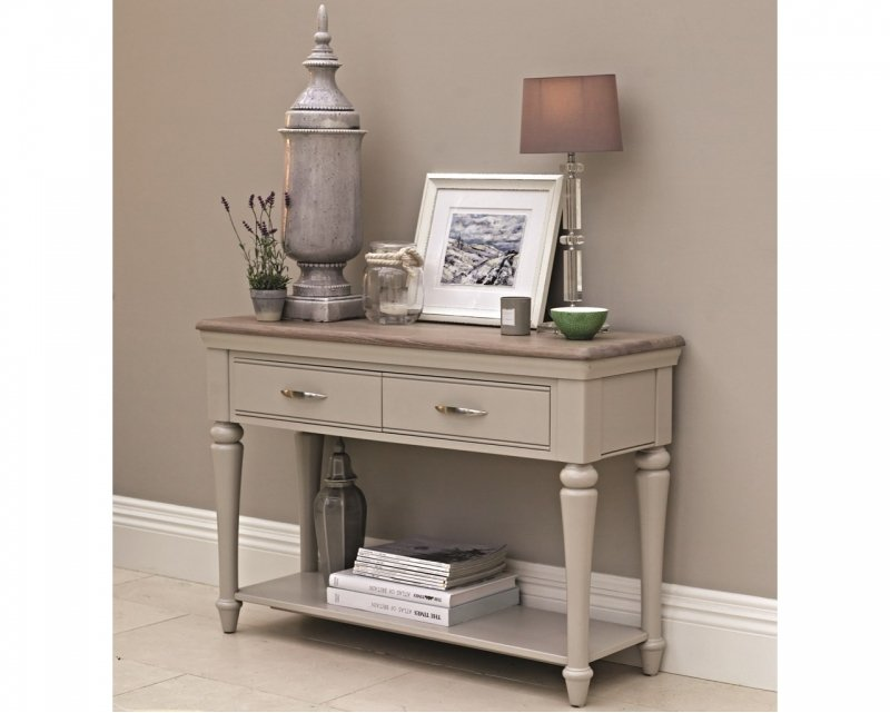 TONI GREY CONSOLE TABLE - L115cm x D40cm x H78.5cm