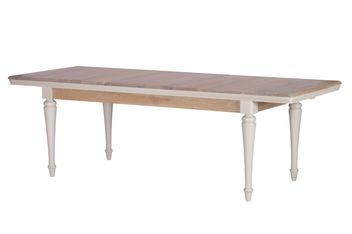 TONI GREY LARGE EXTENDING DINING TABLE - L240cm x D90cm x H78.8cm