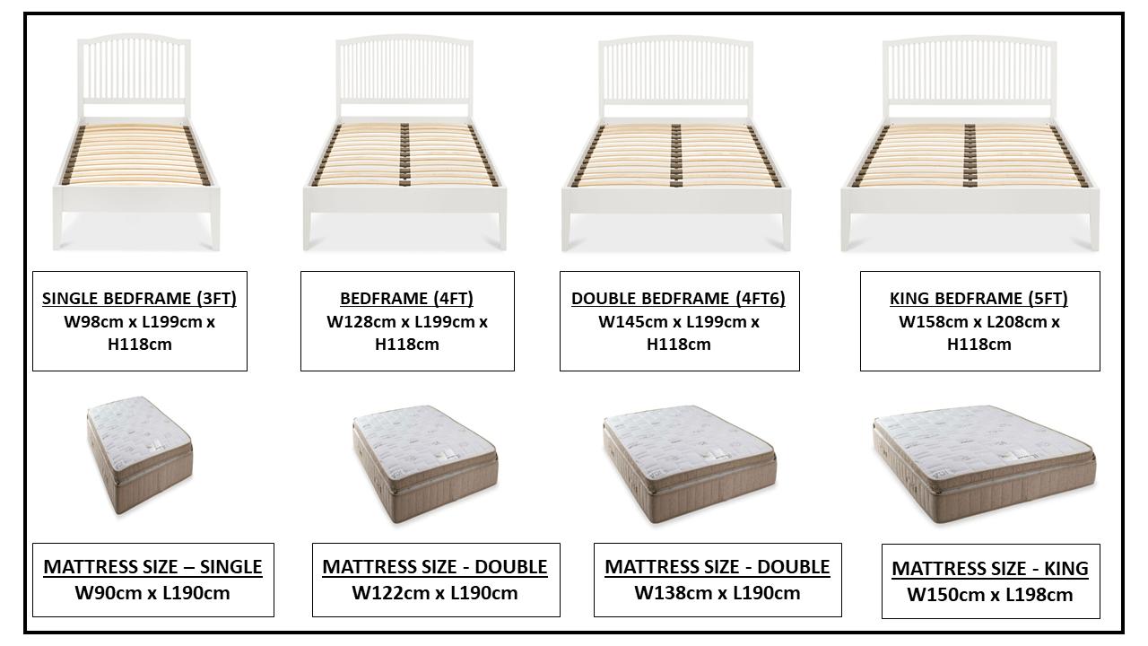 ASHLEY (GREY or WHITE) BEDFRAME OPTIONS