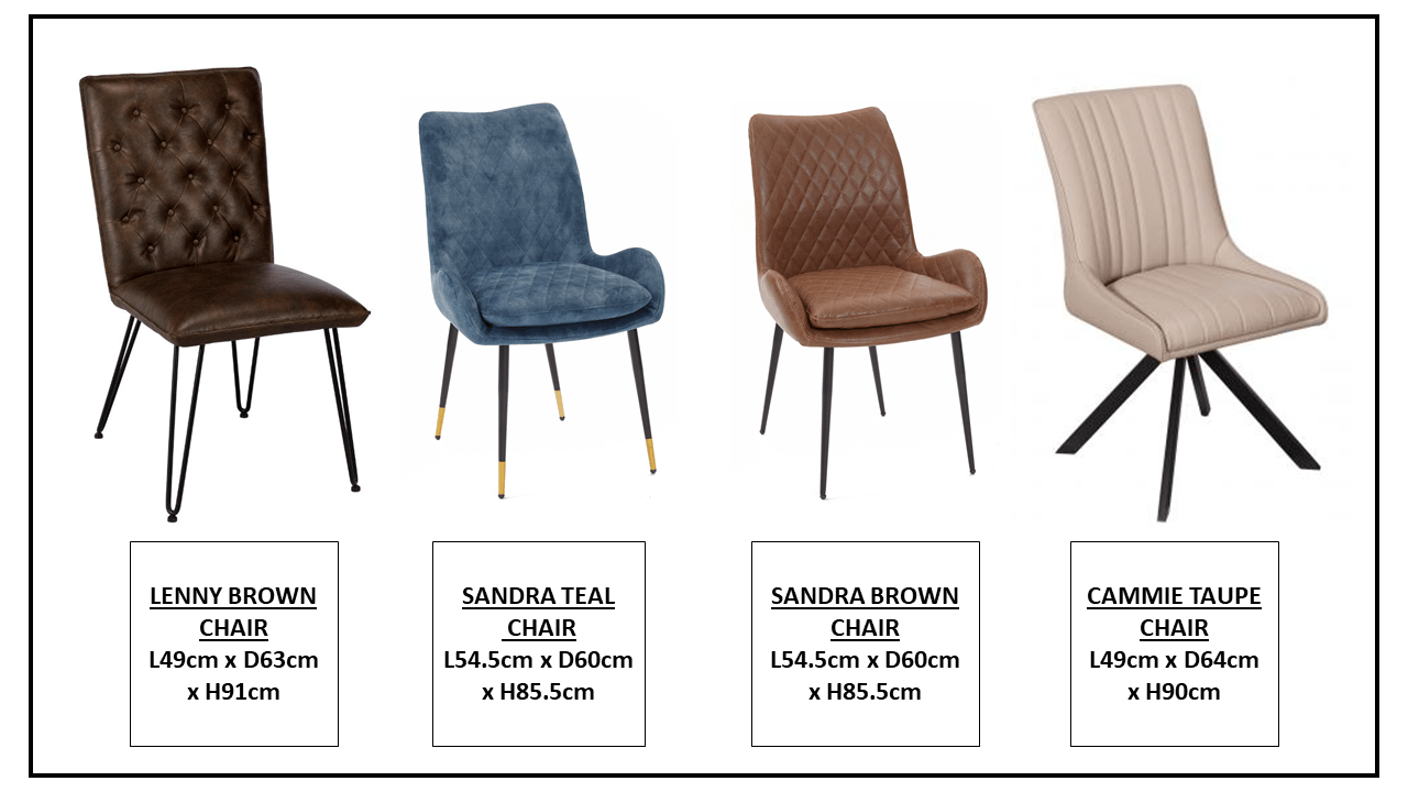 CHAIR OPTIONS...