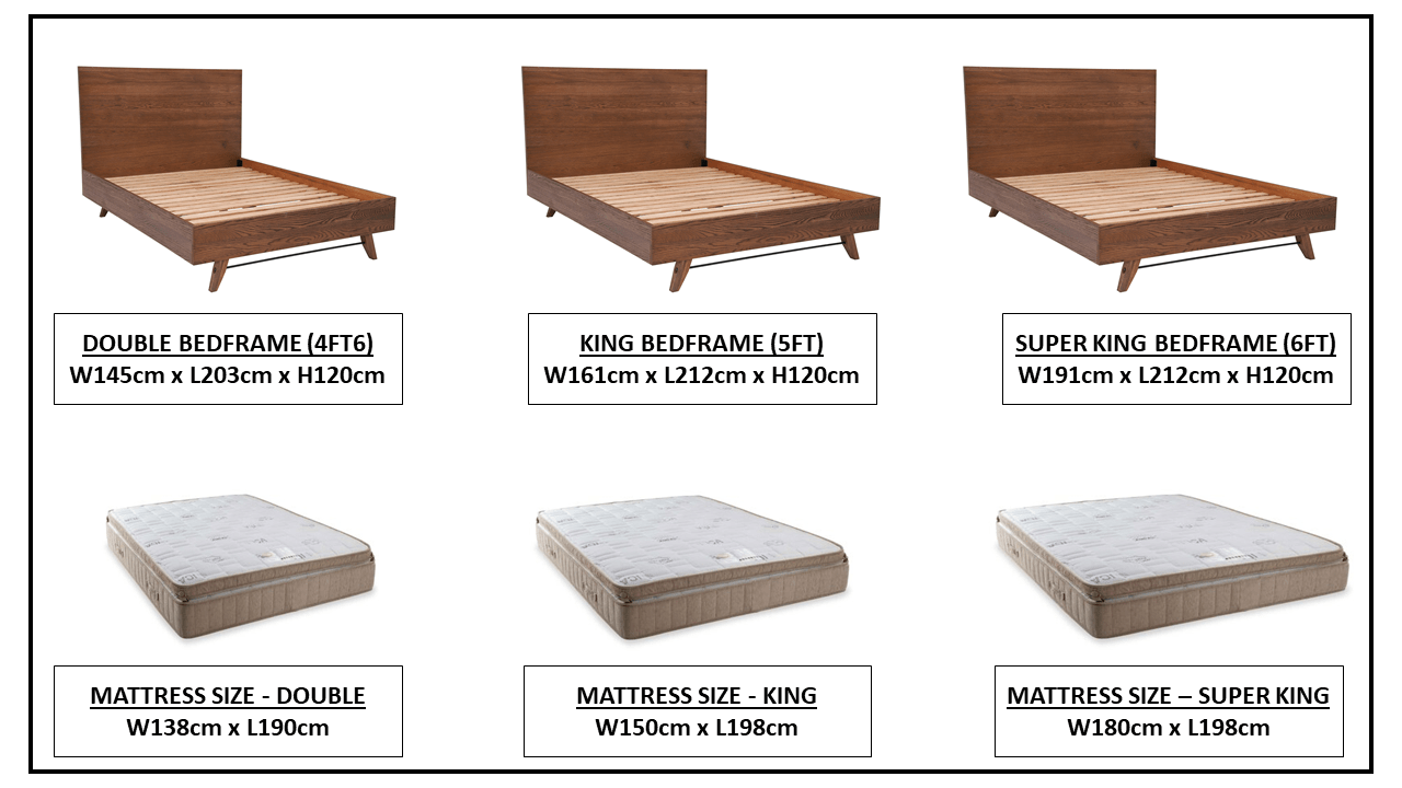 CORMAR OAK BED FRAME OPTIONS