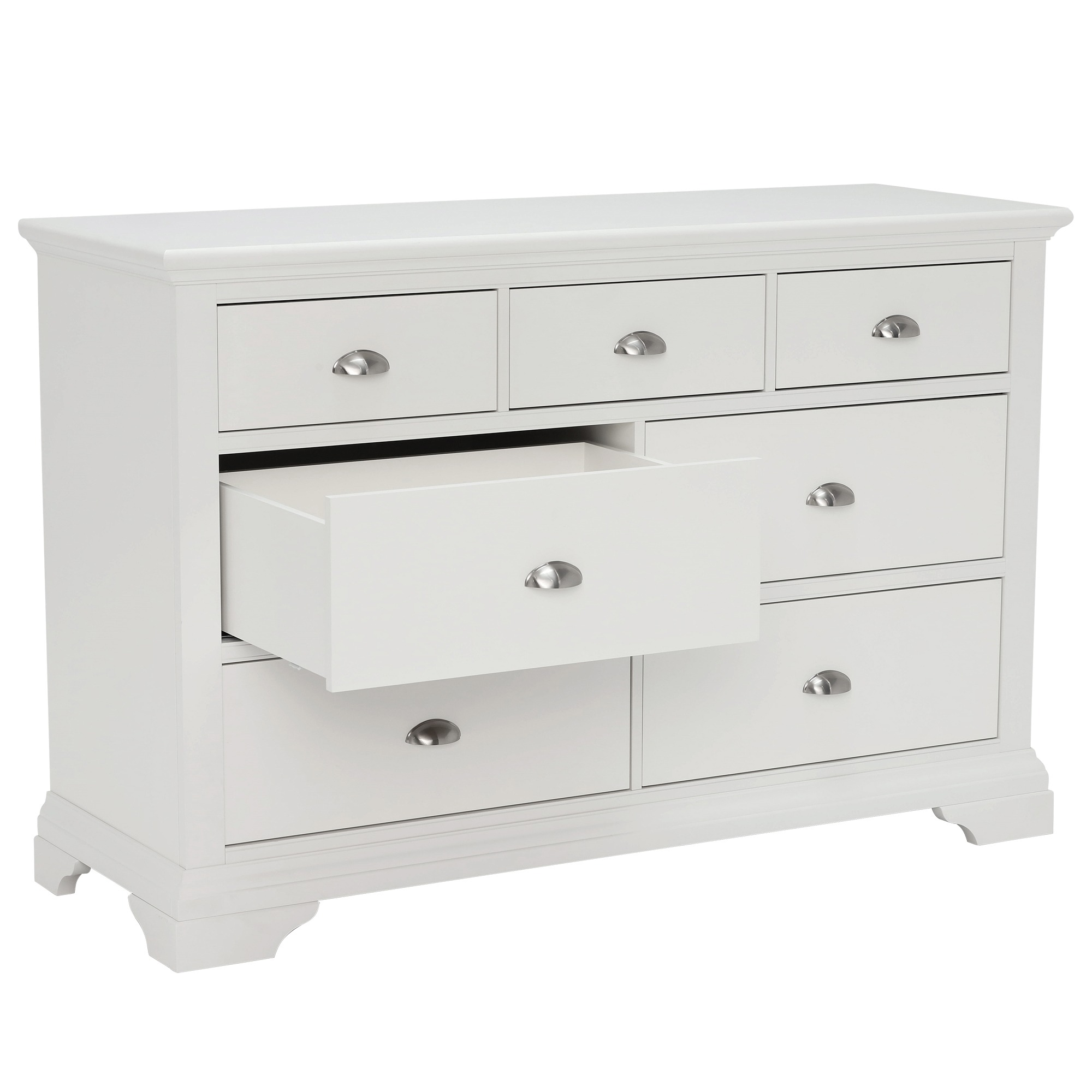 KYRA WHITE WIDE CHEST - DRAWER DETAIL