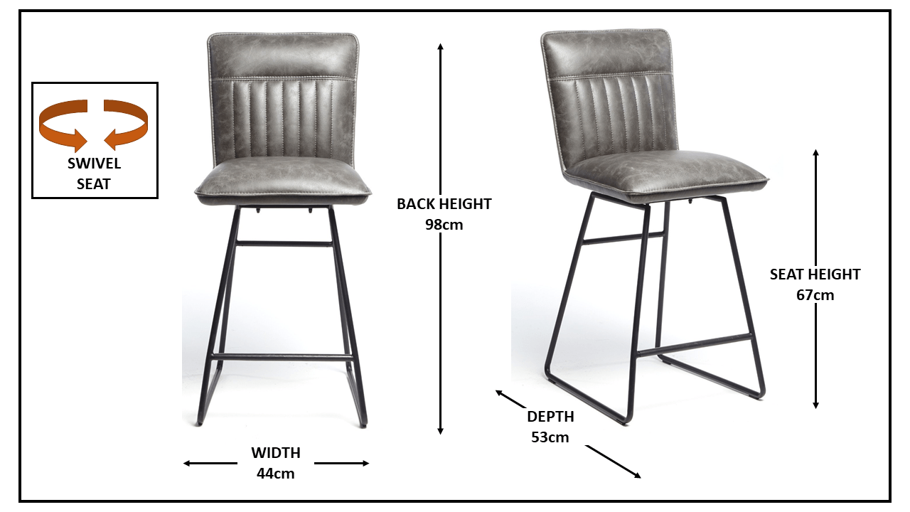 MERTO GREY BAR STOOL..