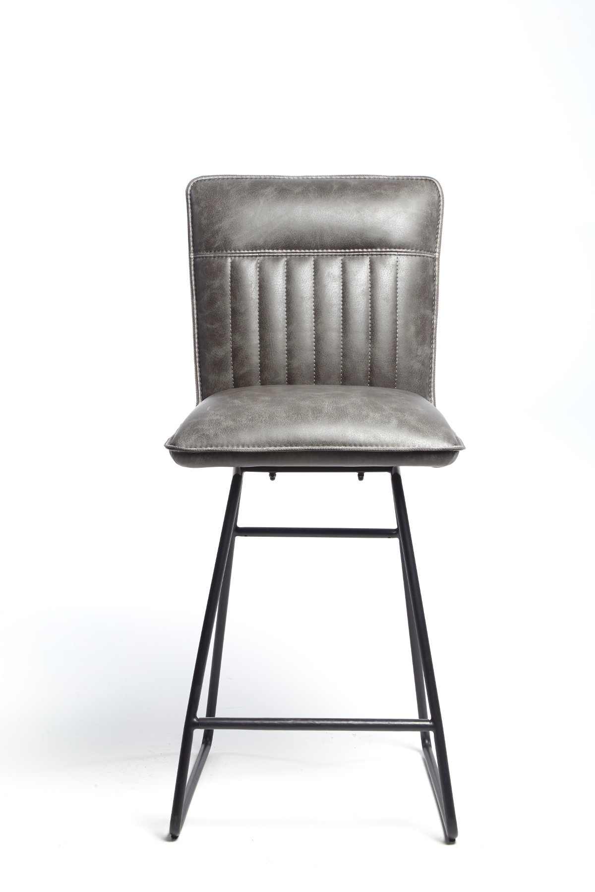 METRO GREY STOOL - FRONT DETAIL