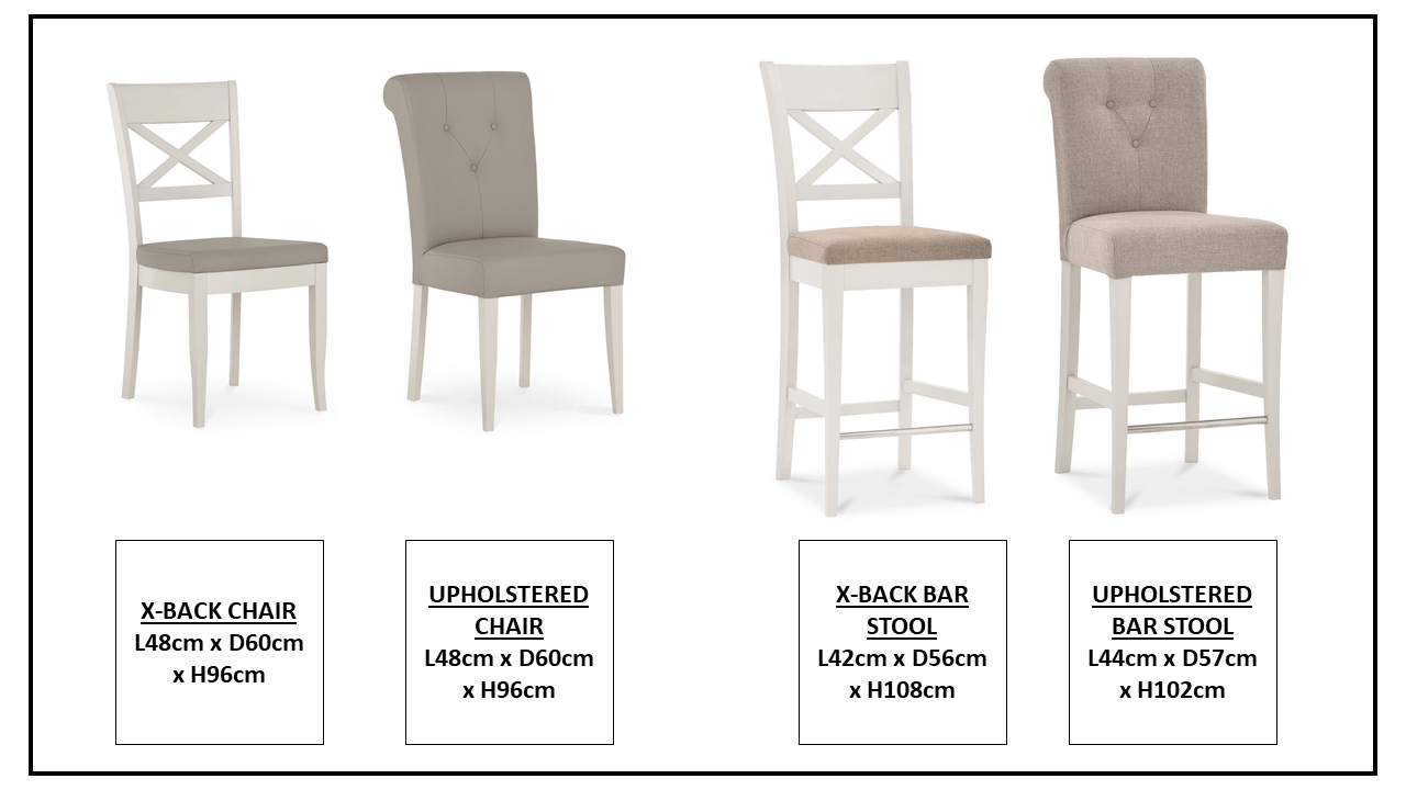 MONICA GREY CHAIR AND BARSTOOL