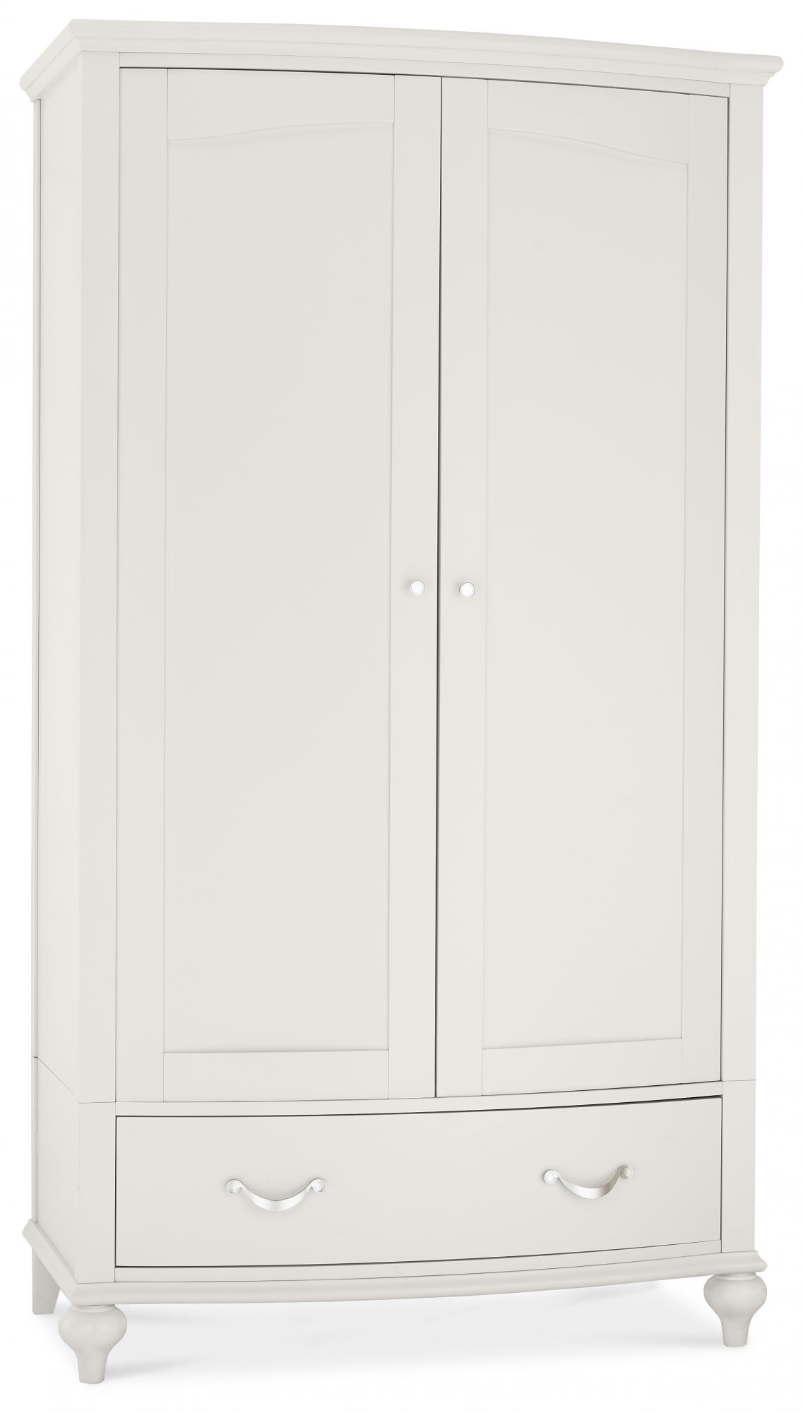 MONICA GREY DOUBLE WARDROBE - ANGLE DETAIL
