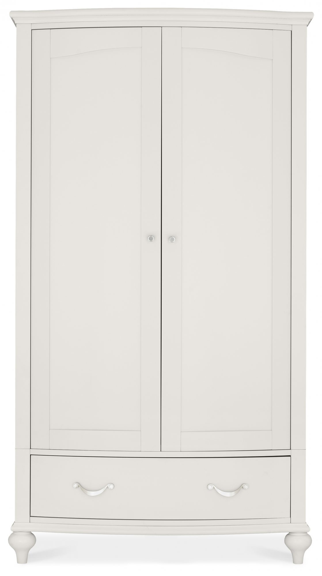 MONICA GREY DOUBLE WARDROBE - FRONT DETAIL