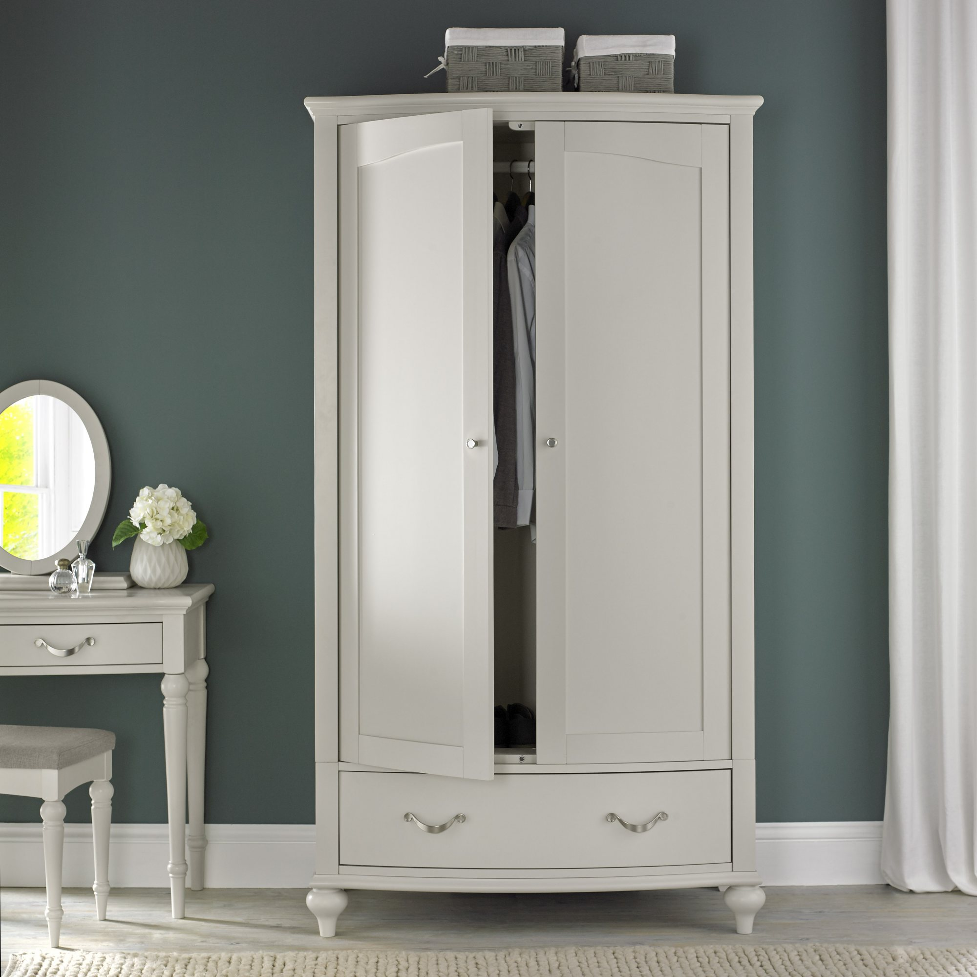 MONICA GREY DOUBLE WARDROBE - L110cm x D64cm x H200cm