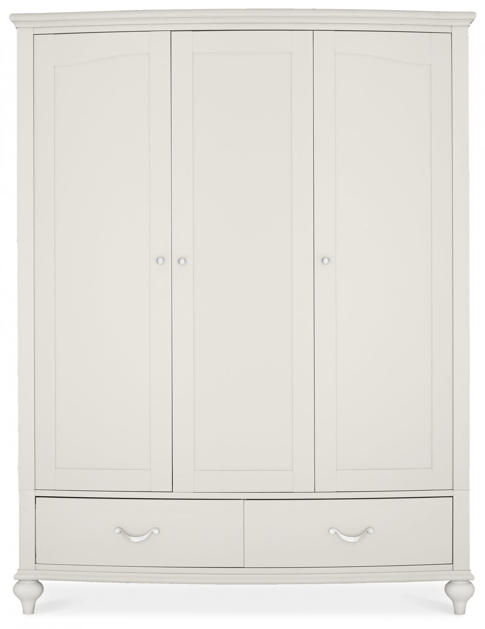MONICA GREY TRIPLE WARDROBE - FRONT DETAIL