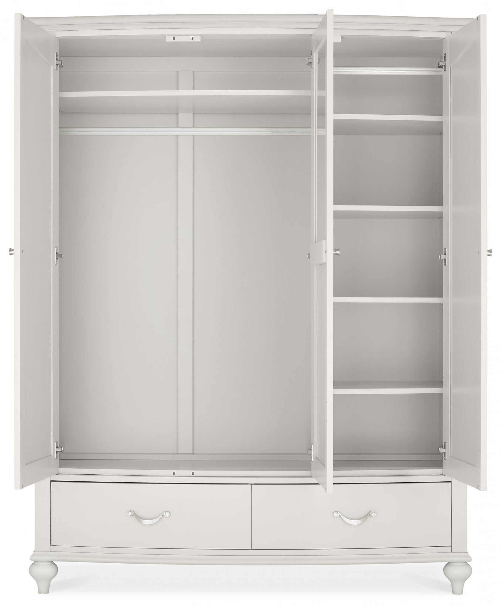 MONICA GREY TRIPLE WARDROBE - STORAGE DETAIL