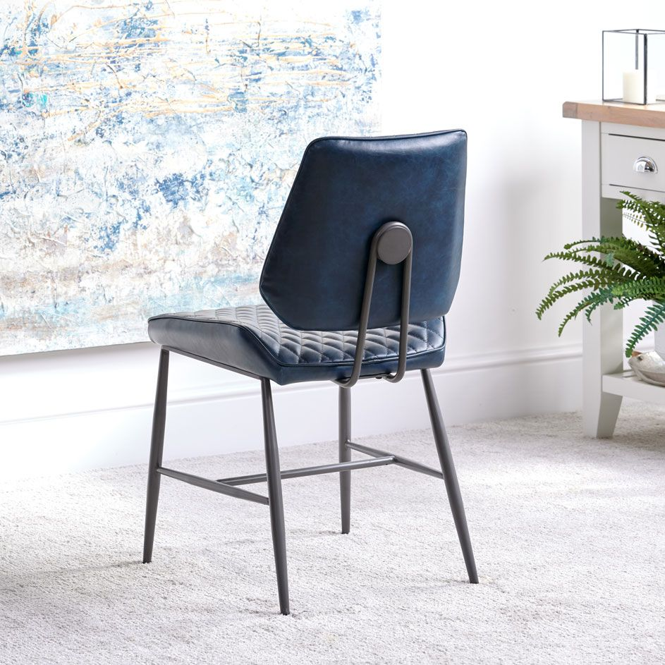 NEMOX BLUE DINING CHAIR - BACK DETAIL